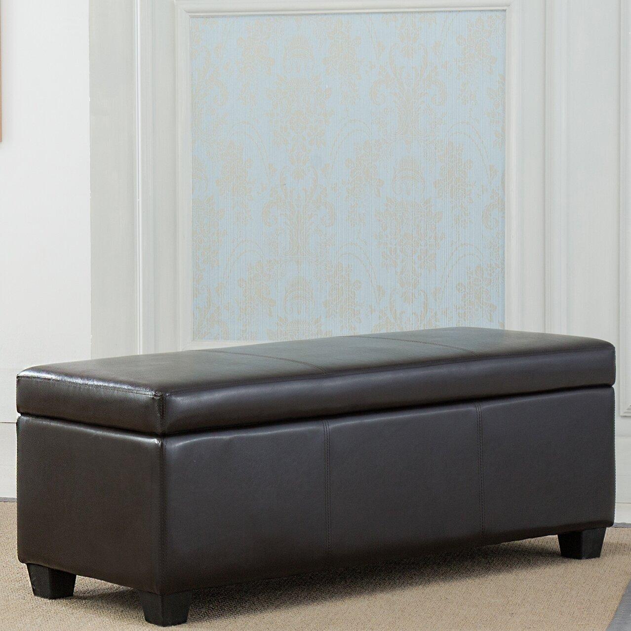 Padded Bench For Bedroom Belleze Upholstered Storage Bedroom Bench Reviews Wayfair