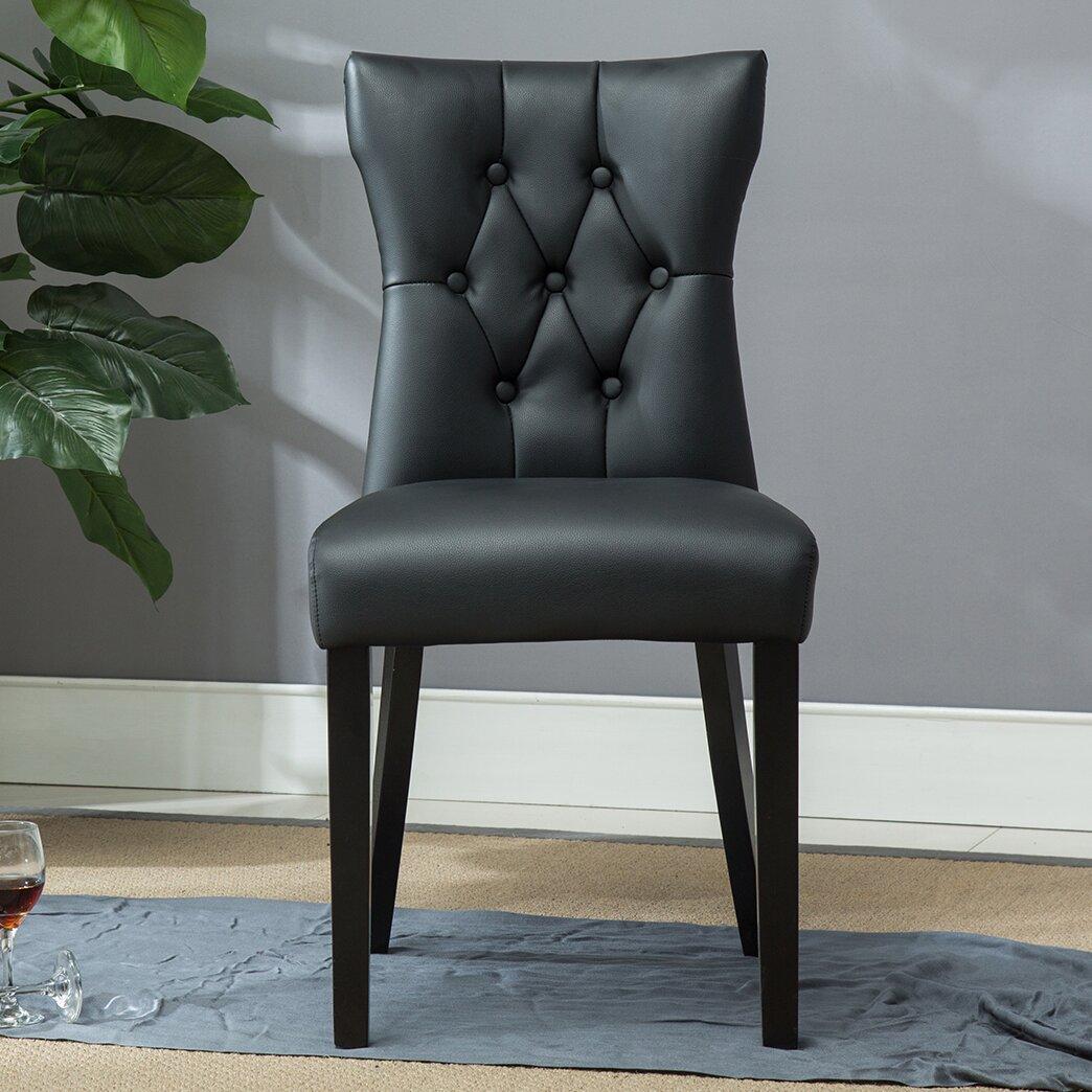 belleze elegant tufted design faux leather upholstered