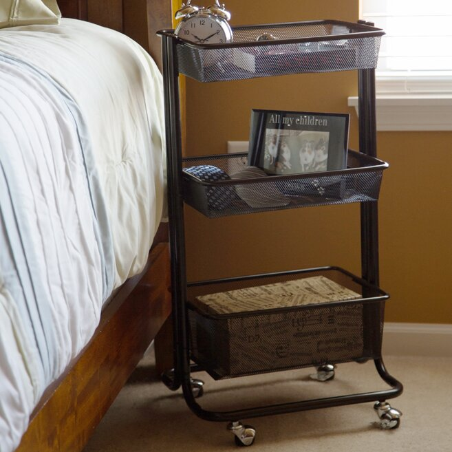 Offex Storage Kitchen Rolling Utility Cart & Reviews | Wayfair