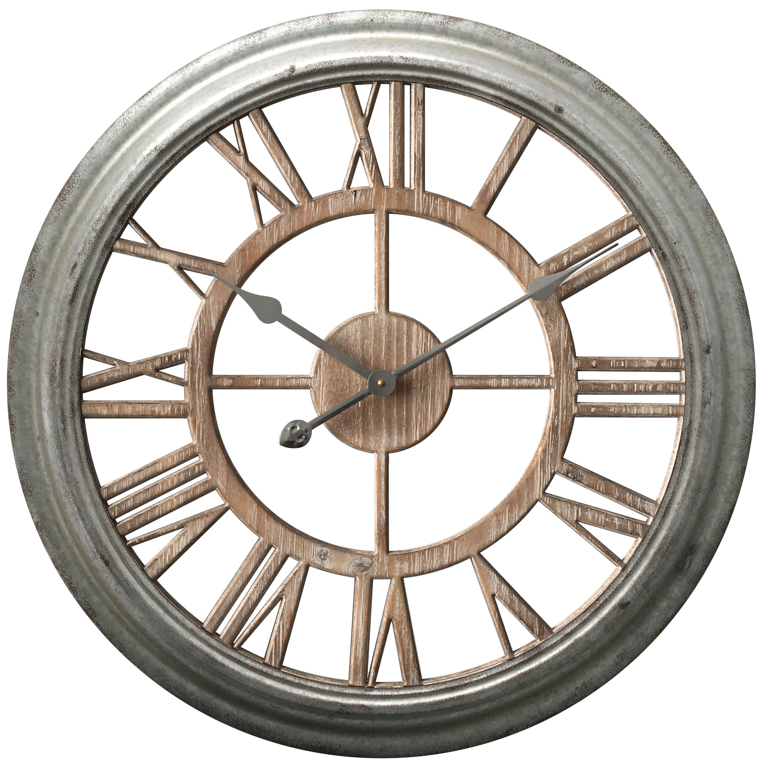 Laurel foundry modern farmhouse oversized wall - Oversized modern wall clock ...