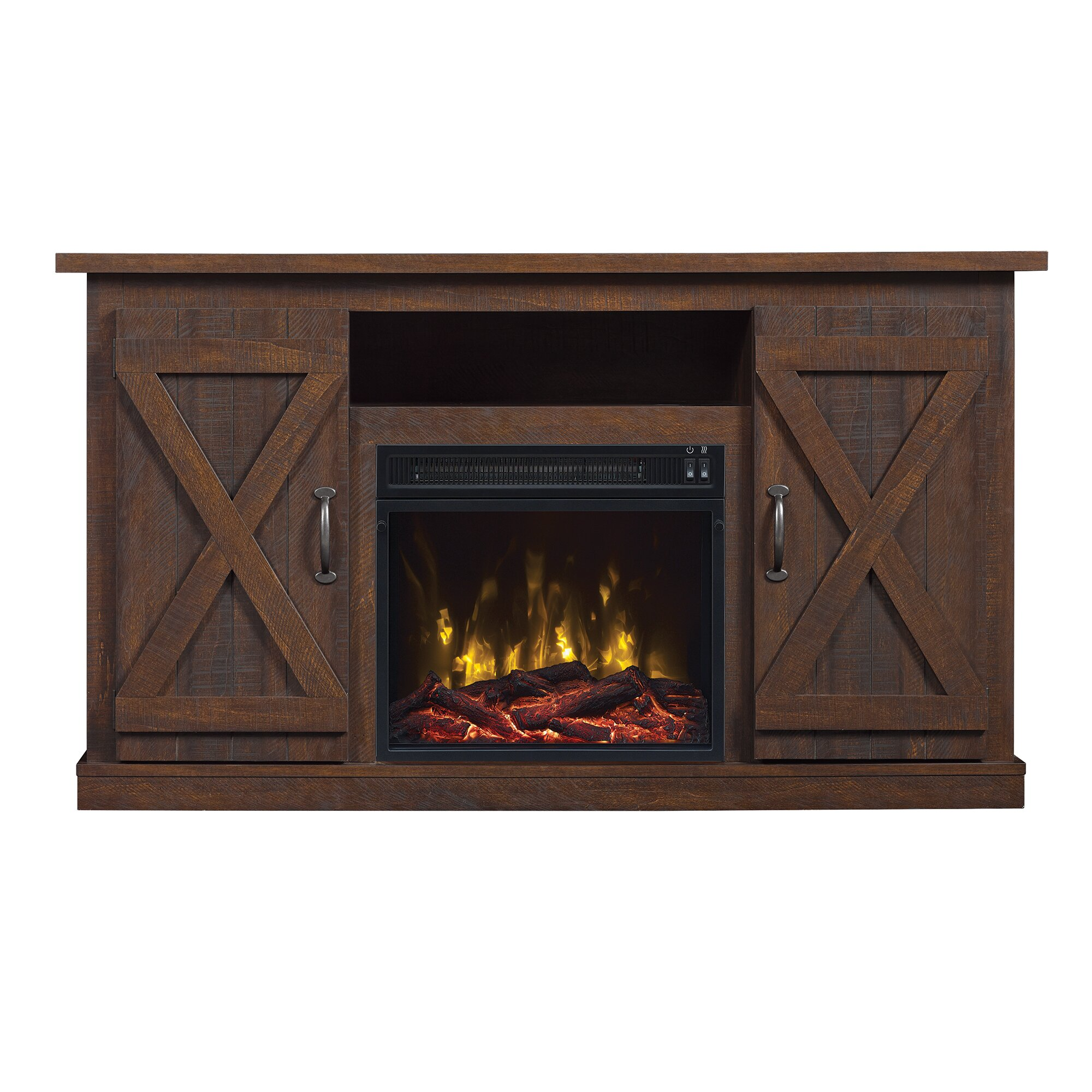 White tv stand with electric fireplace - Serein Tv Stand With Electric Fireplace