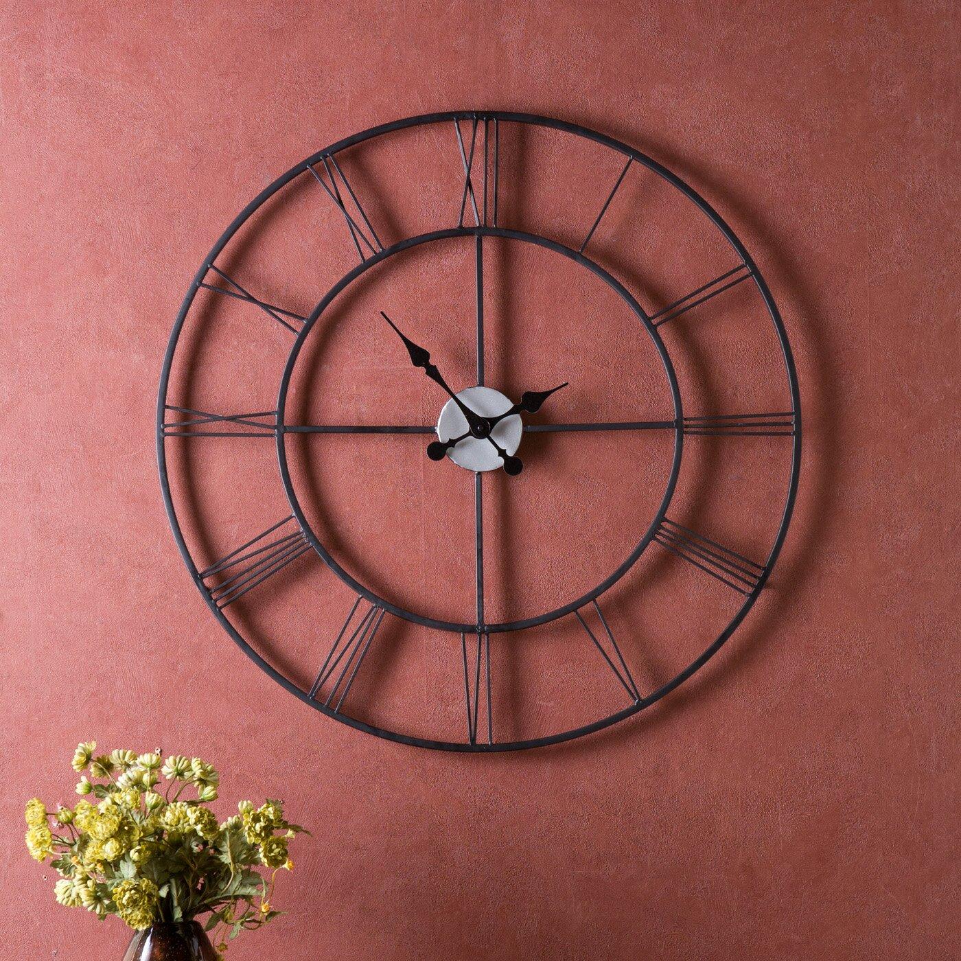 Laurel Foundry Modern Farmhouseu0026trade; Oversized 30 Black Decorative  Wall Clock
