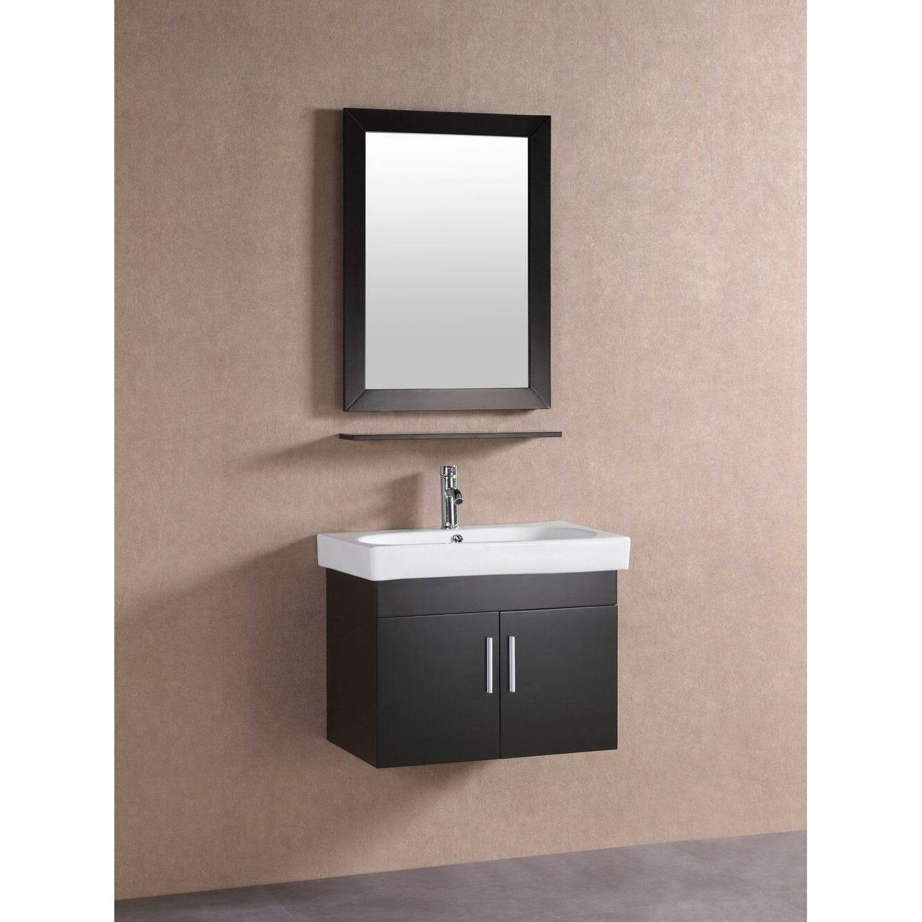 belvederebath 28 single modern bathroom vanity set. Black Bedroom Furniture Sets. Home Design Ideas