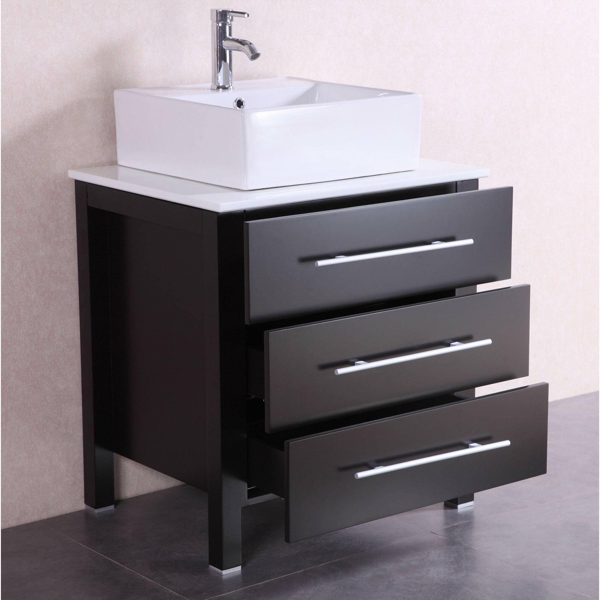 "BelvedereBath 28"" Single Modern Bathroom Vanity Set"