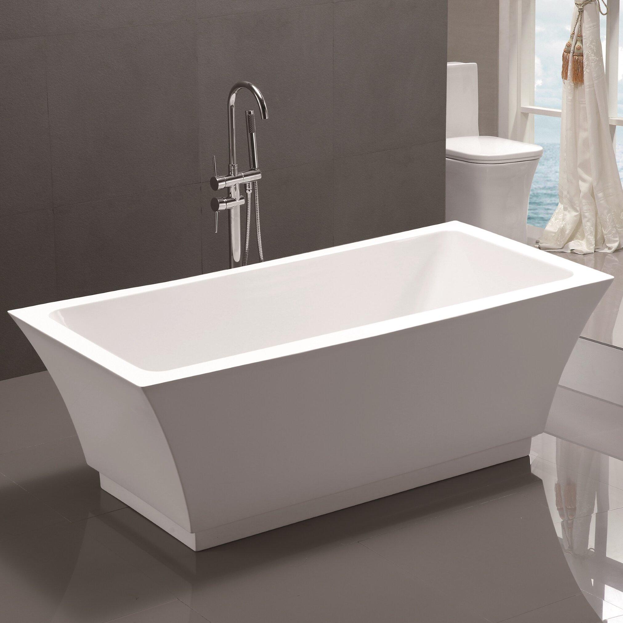 "Vanityart 59"" X 29.5"" Freestanding Soaking Bathtub"