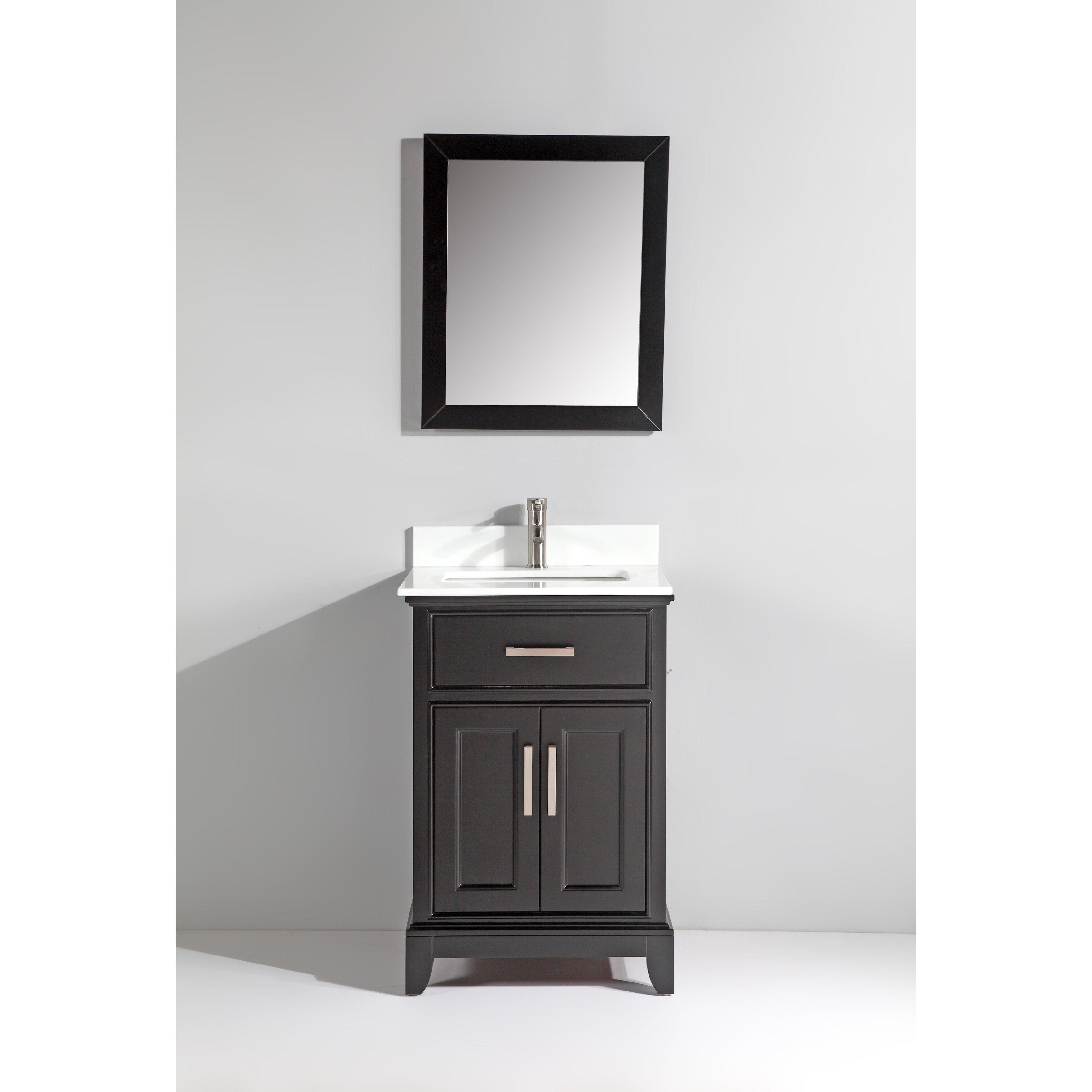Vanity art 24 single bathroom vanity set with mirror for Bathroom vanity drawings