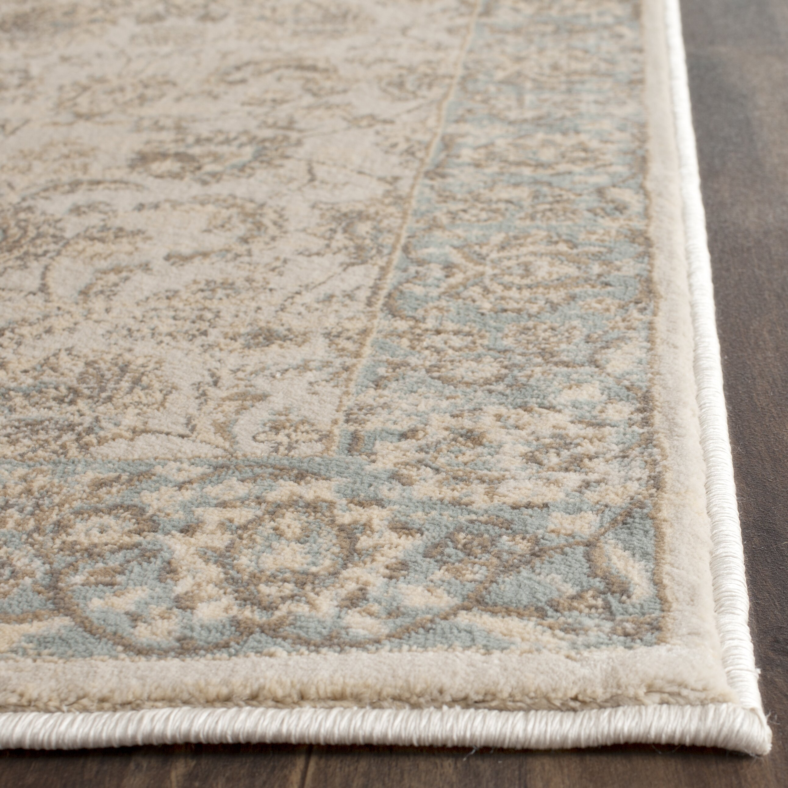 Light Blue And Beige Area Rug Home Decor