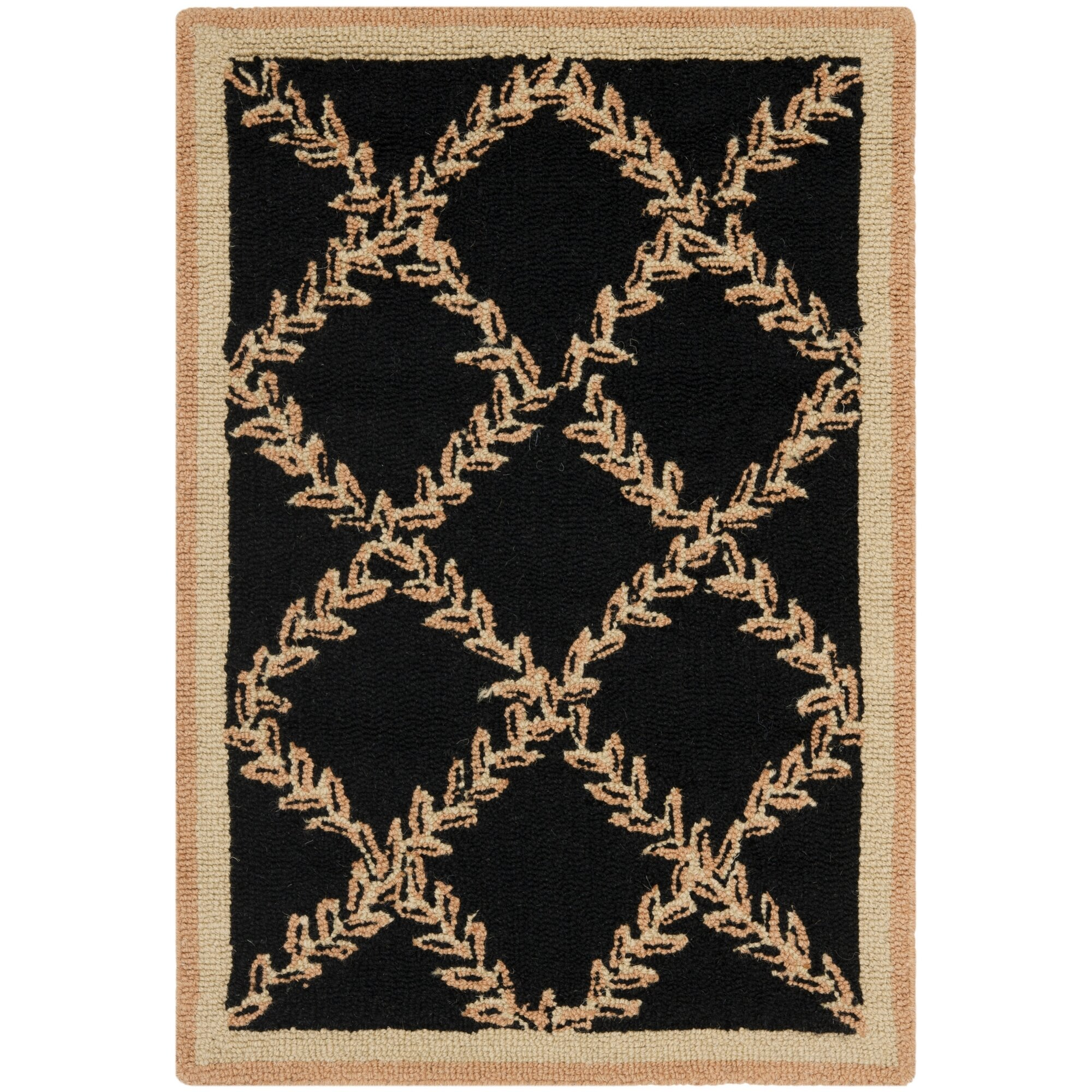 Gold And Black Rug Home Decor
