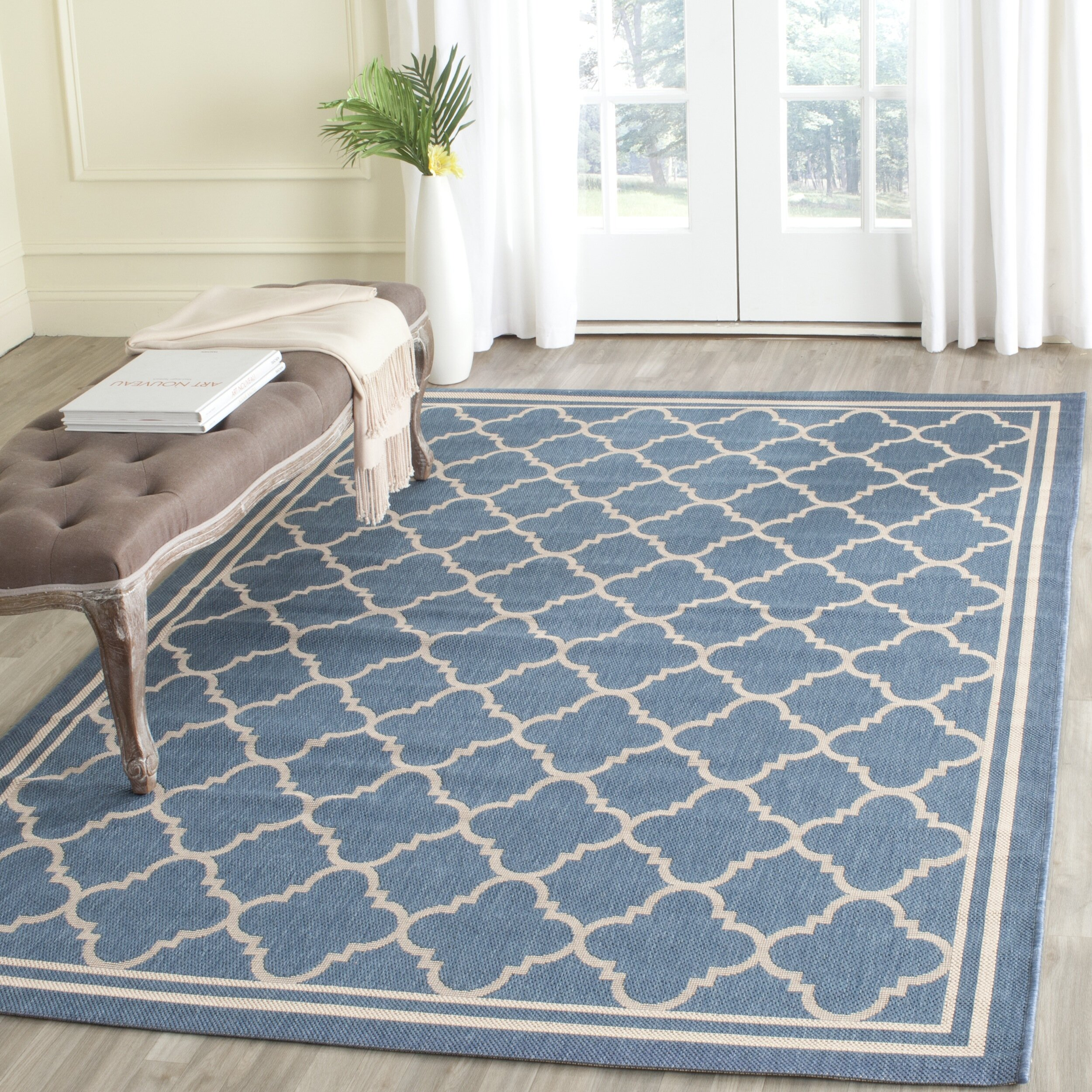 Blue Outdoor Rug 9x12: Navy Blue And Beige Area Rugs