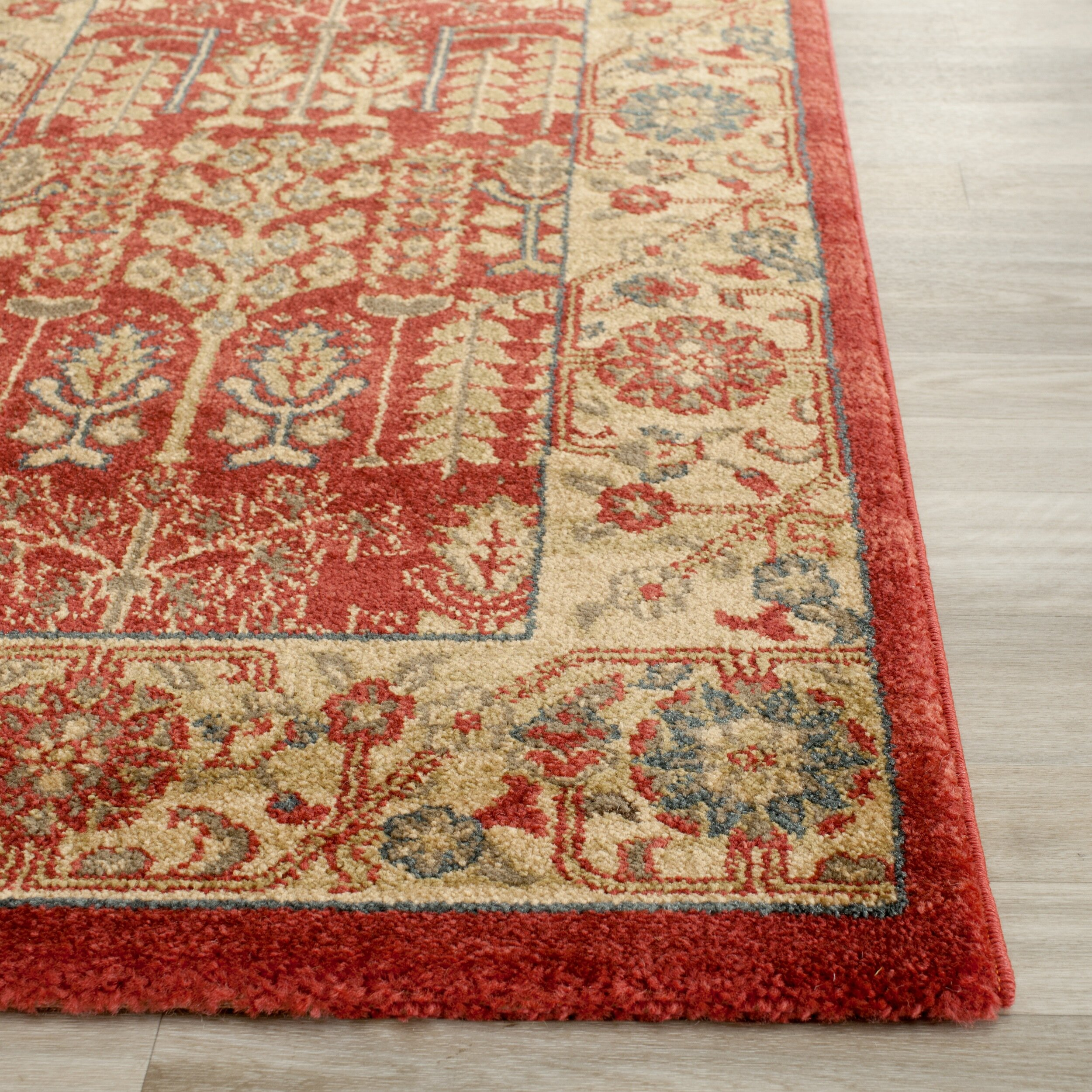 Safavieh mahal red natural area rug reviews wayfair for Dining room rugs 9x12