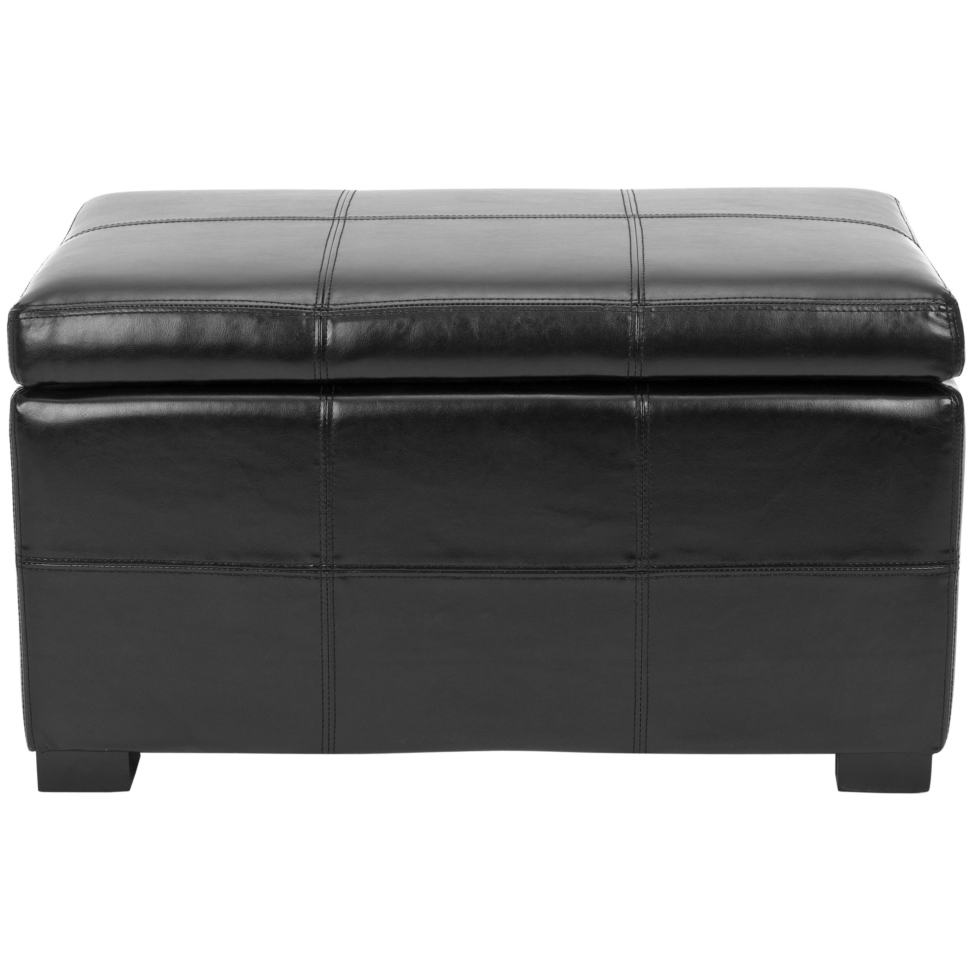 Leather Storage Bench Bedroom Safavieh Lucas Leather Bedroom Storage Bedroom Bench Reviews
