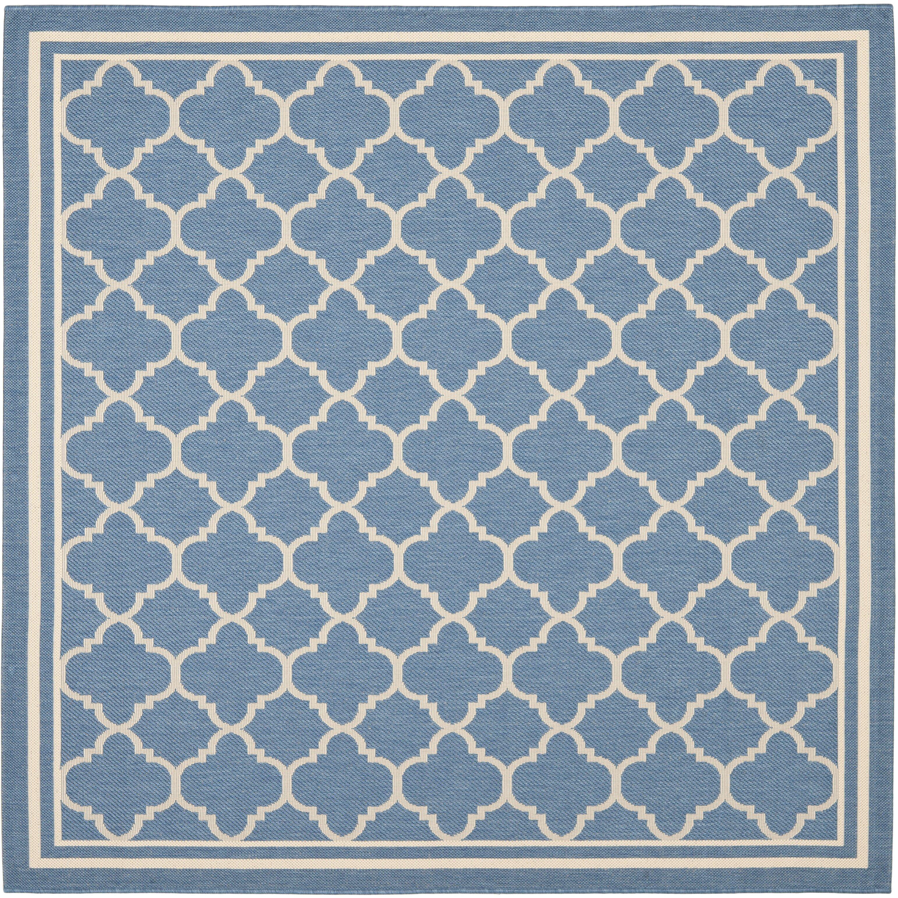 Safavieh Courtyard Indoor/Outdoor Blue/Beige Area Rug