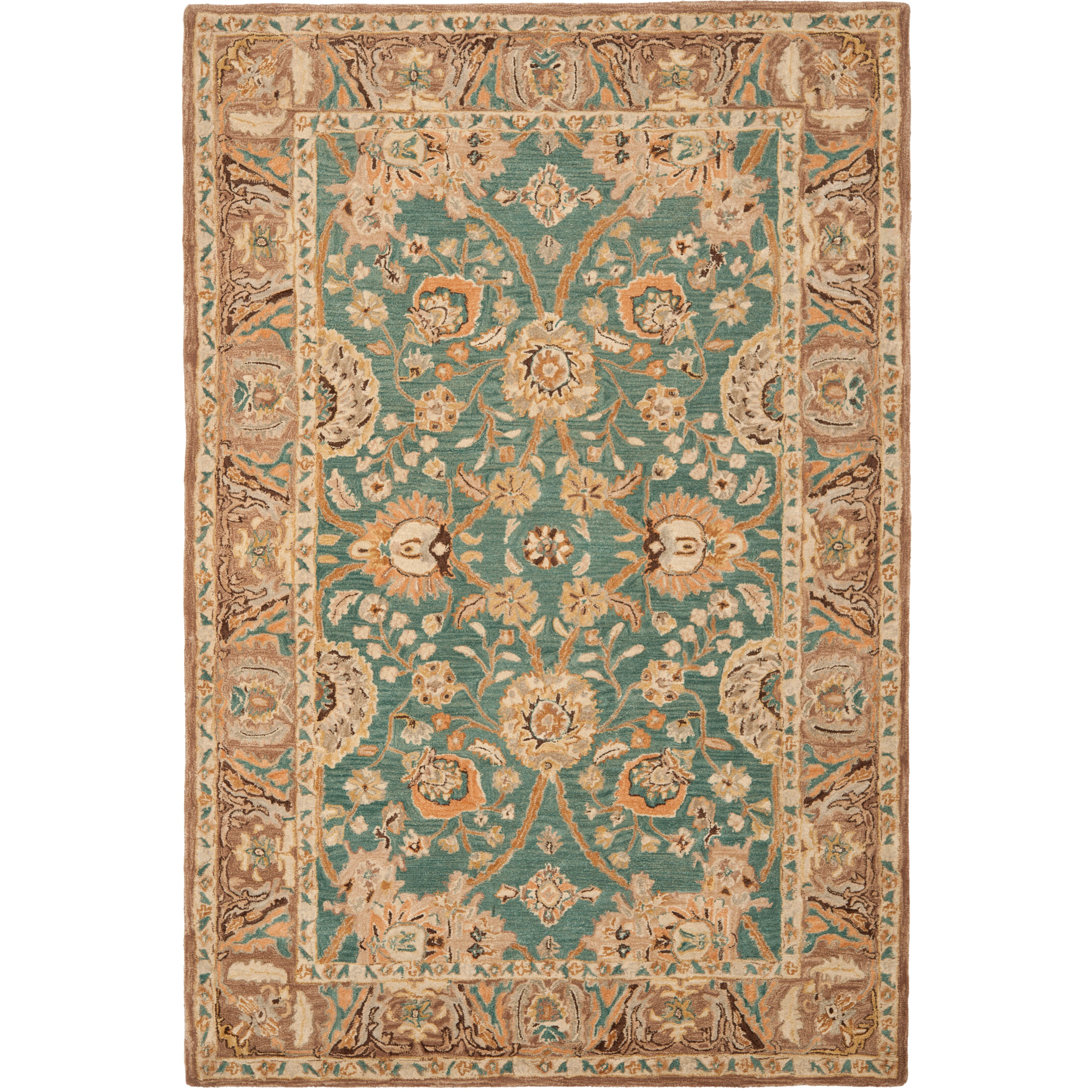 Teal And Brown Rug Roselawnlutheran