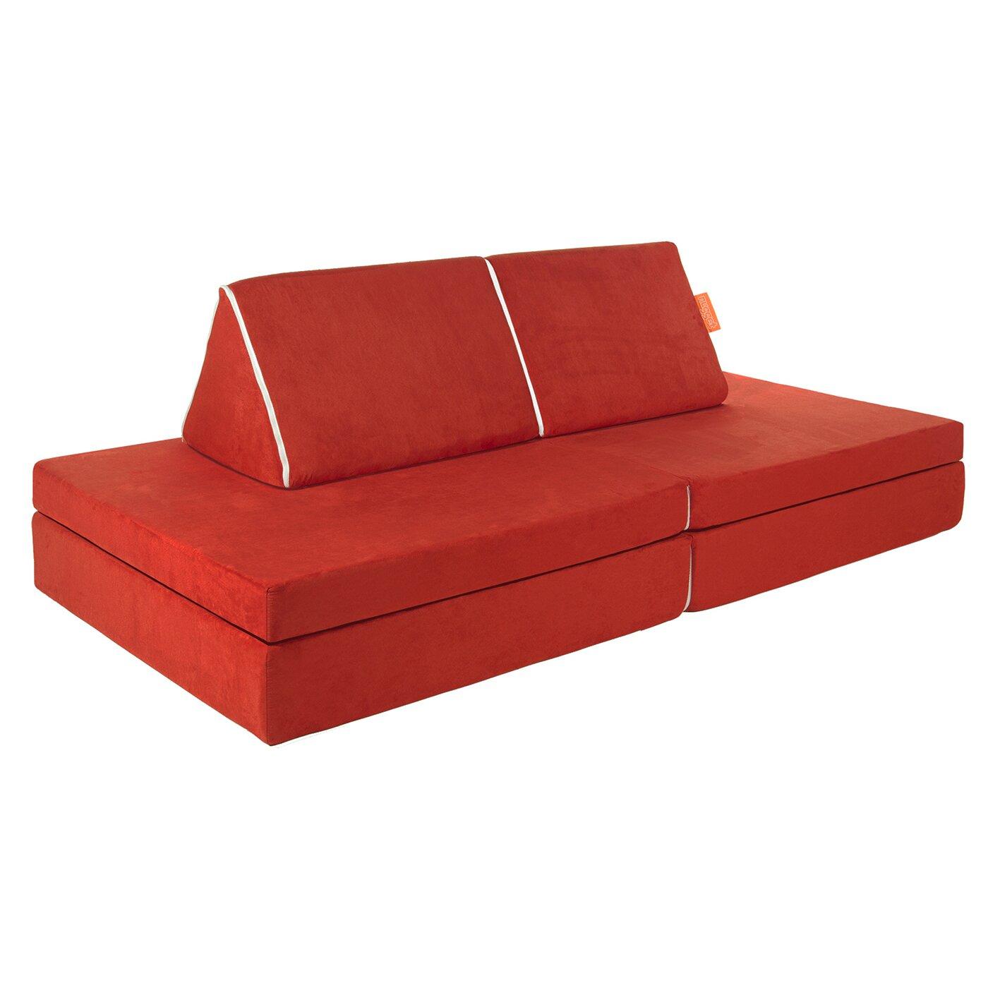 nugget 4 piece kids sofa set reviews wayfair kids sleeper so