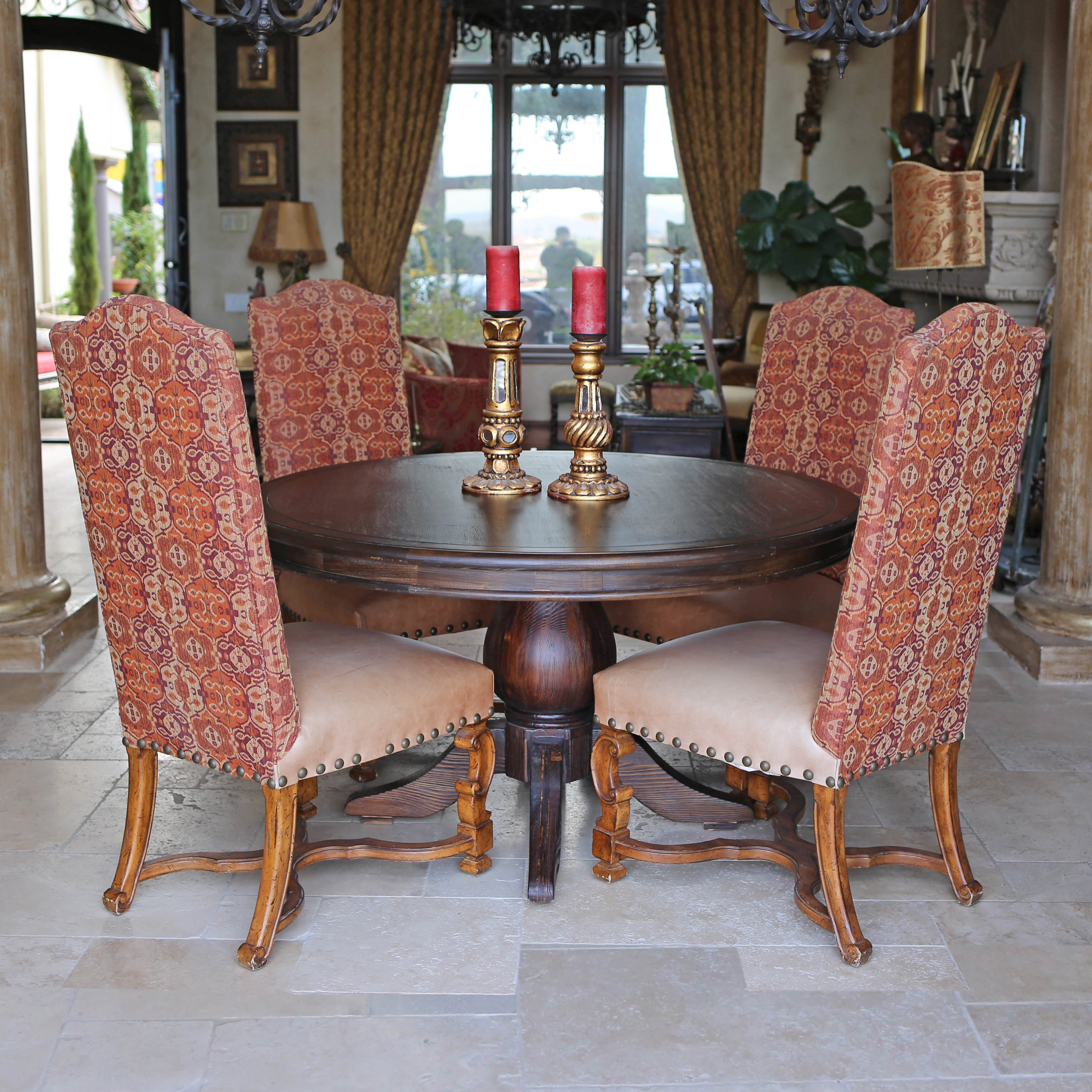 kovethospitality florence reclaimed wood round dining table, Dining tables