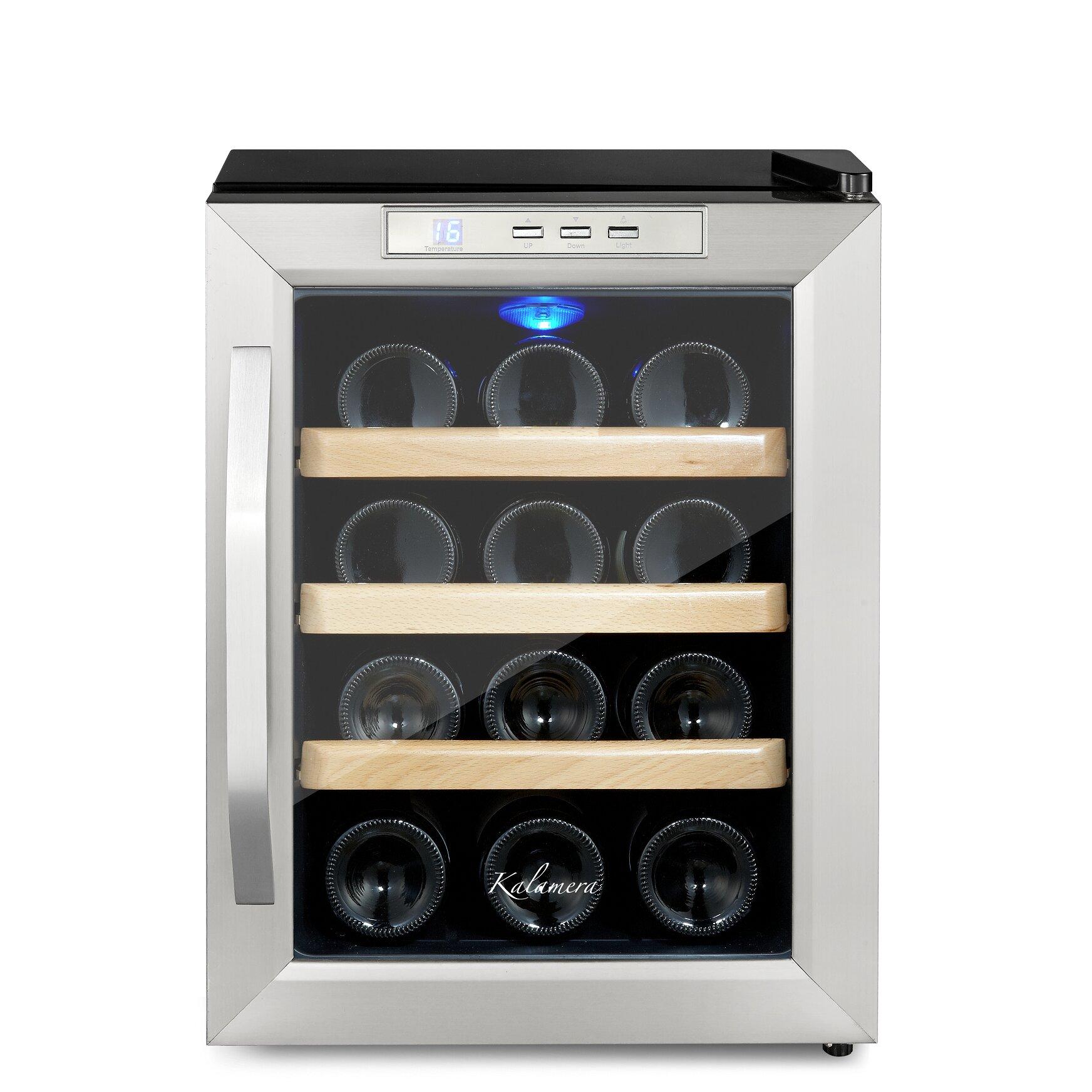 Kalamera 12 Bottle Freestanding Wine Refrigerator