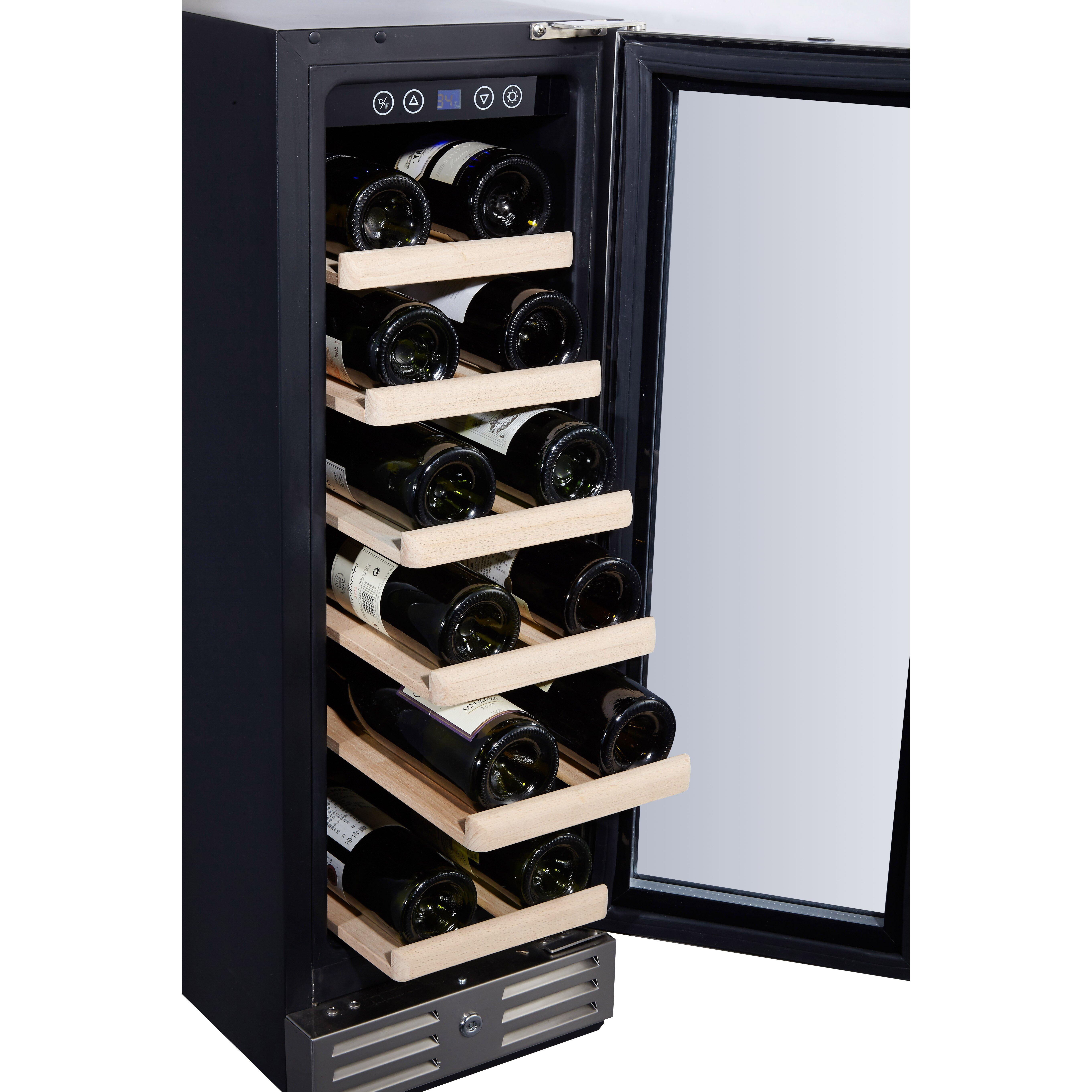 kalamera 18 bottle single zone built in wine cooler reviews. Black Bedroom Furniture Sets. Home Design Ideas