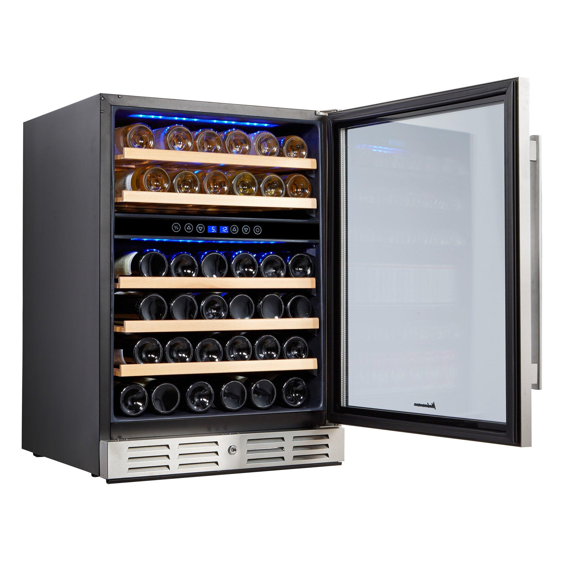 kalamera 46 bottle dual zone built in wine refrigerator. Black Bedroom Furniture Sets. Home Design Ideas