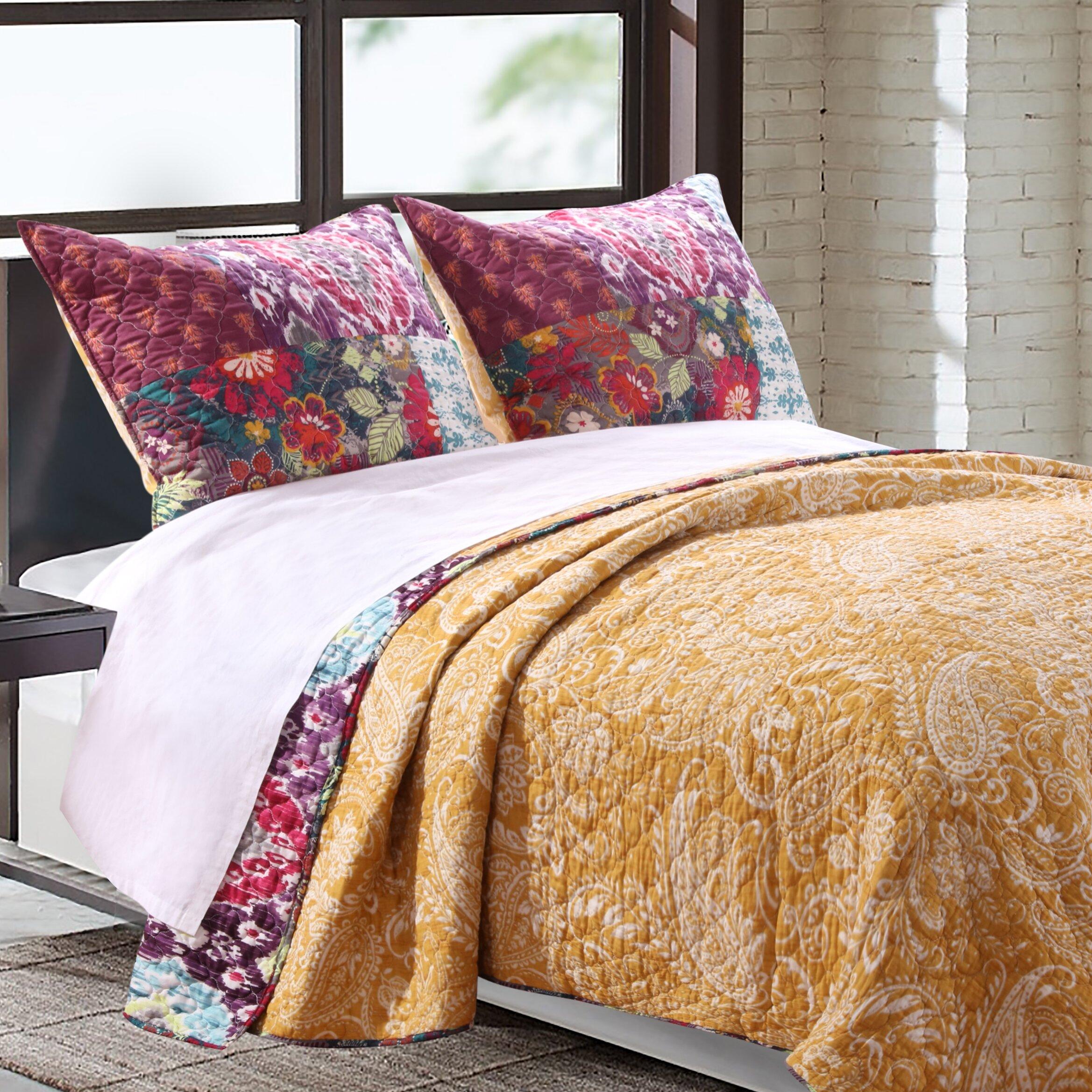 barefoot bungalow samsara reversible quilt set reviews