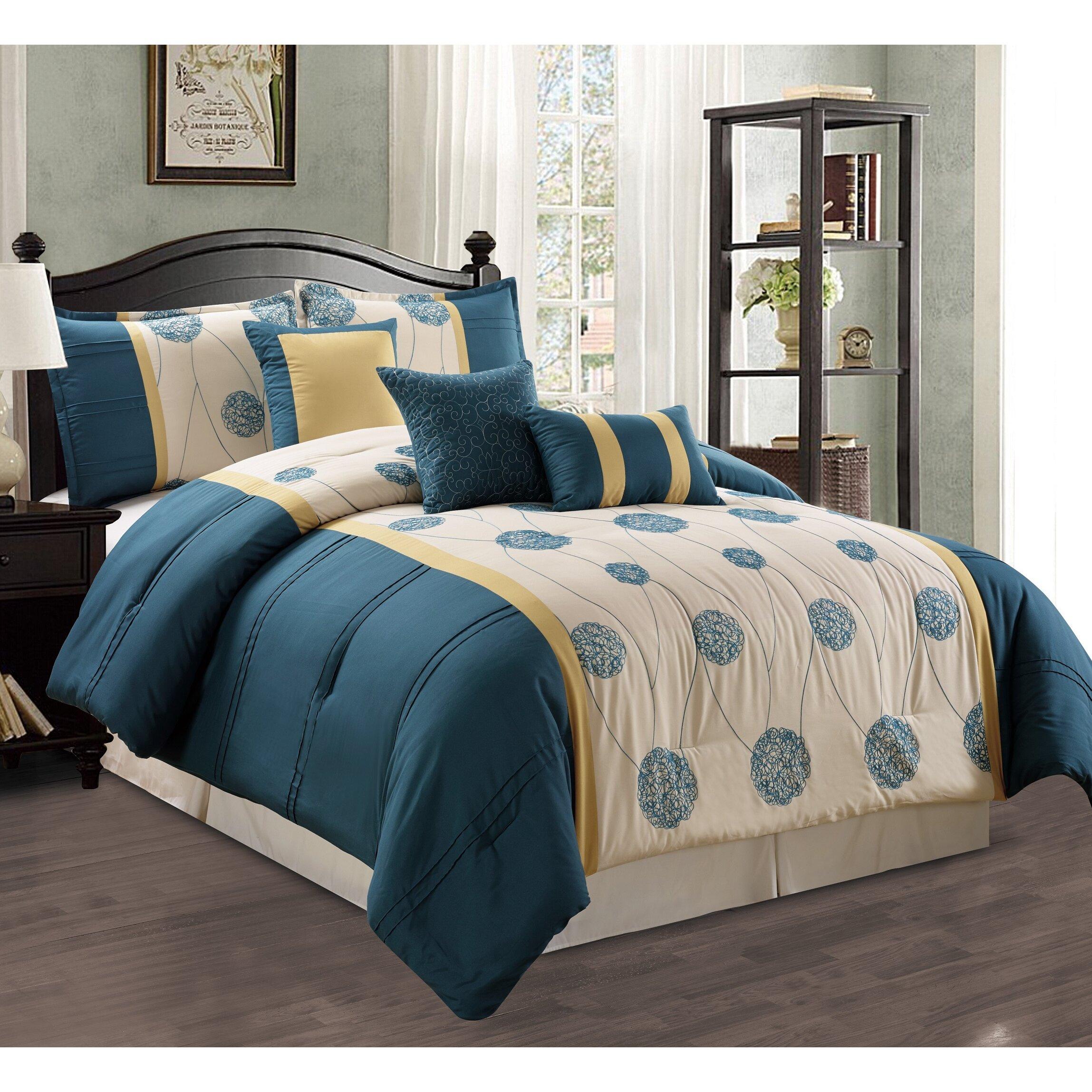 morgan home elizabeth 7 piece comforter set wayfair