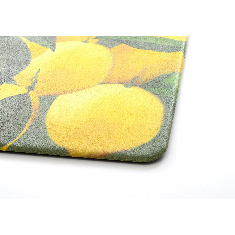 stephan roberts home premium lemons kitchen mat & reviews | wayfair
