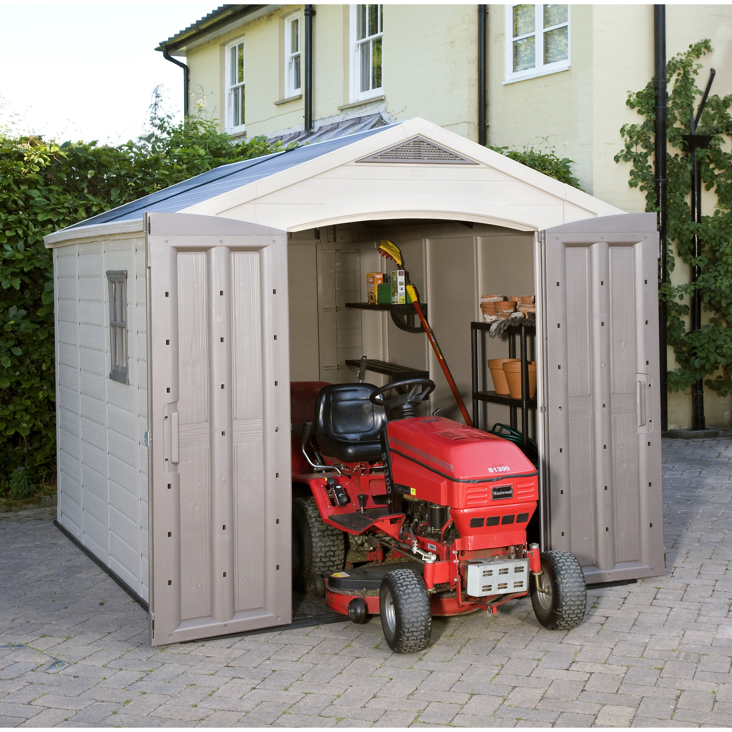 Keter Factor 8 Ft. W x 11 Ft. D Resin Outdoor Storage Shed & Reviews
