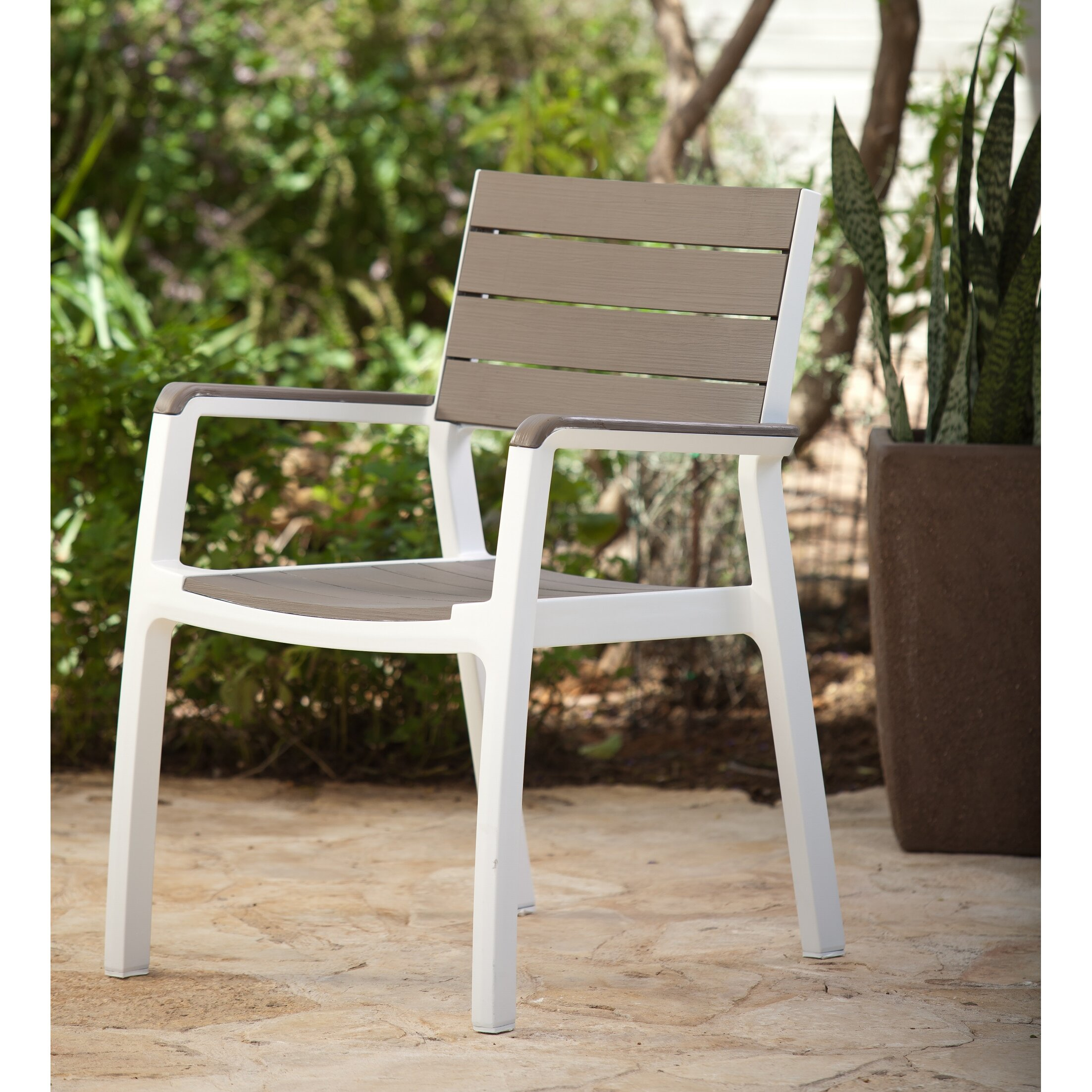 ... Keter Harmony Stacking Dining Arm Chair ...