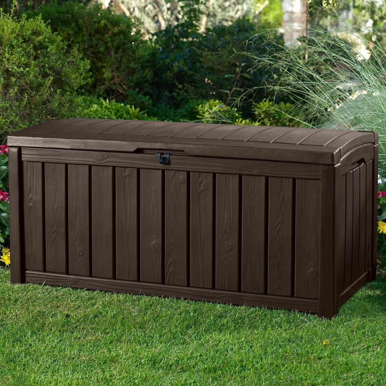 Keter Glenwood Outdoor Patio Furniture 101 Gallon Plastic