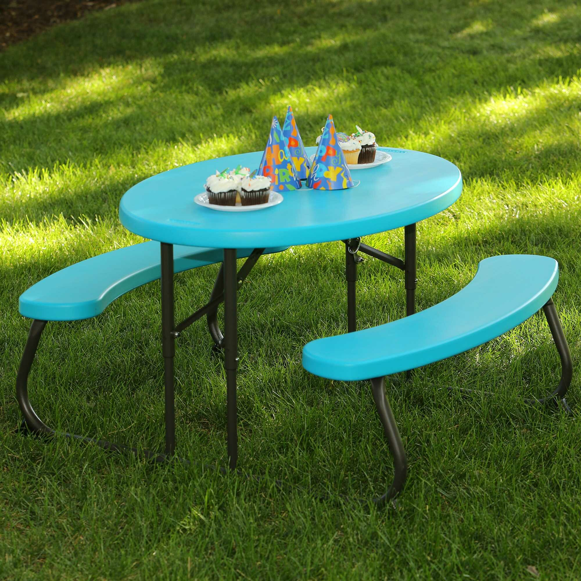Lifetime 3 Piece Oval Picnic Table and Bench Set Wayfairca : Lifetime 3 Piece Oval Picnic Table and Bench Set from www.wayfair.ca size 2000 x 2000 jpeg 555kB