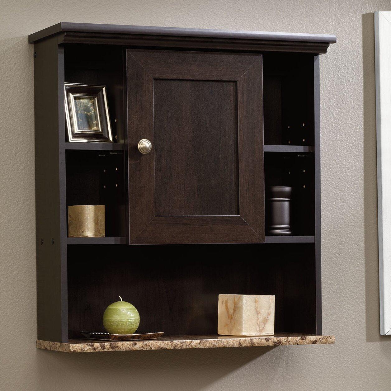 sauder peppercorn w x h wall mounted cabinet. Black Bedroom Furniture Sets. Home Design Ideas