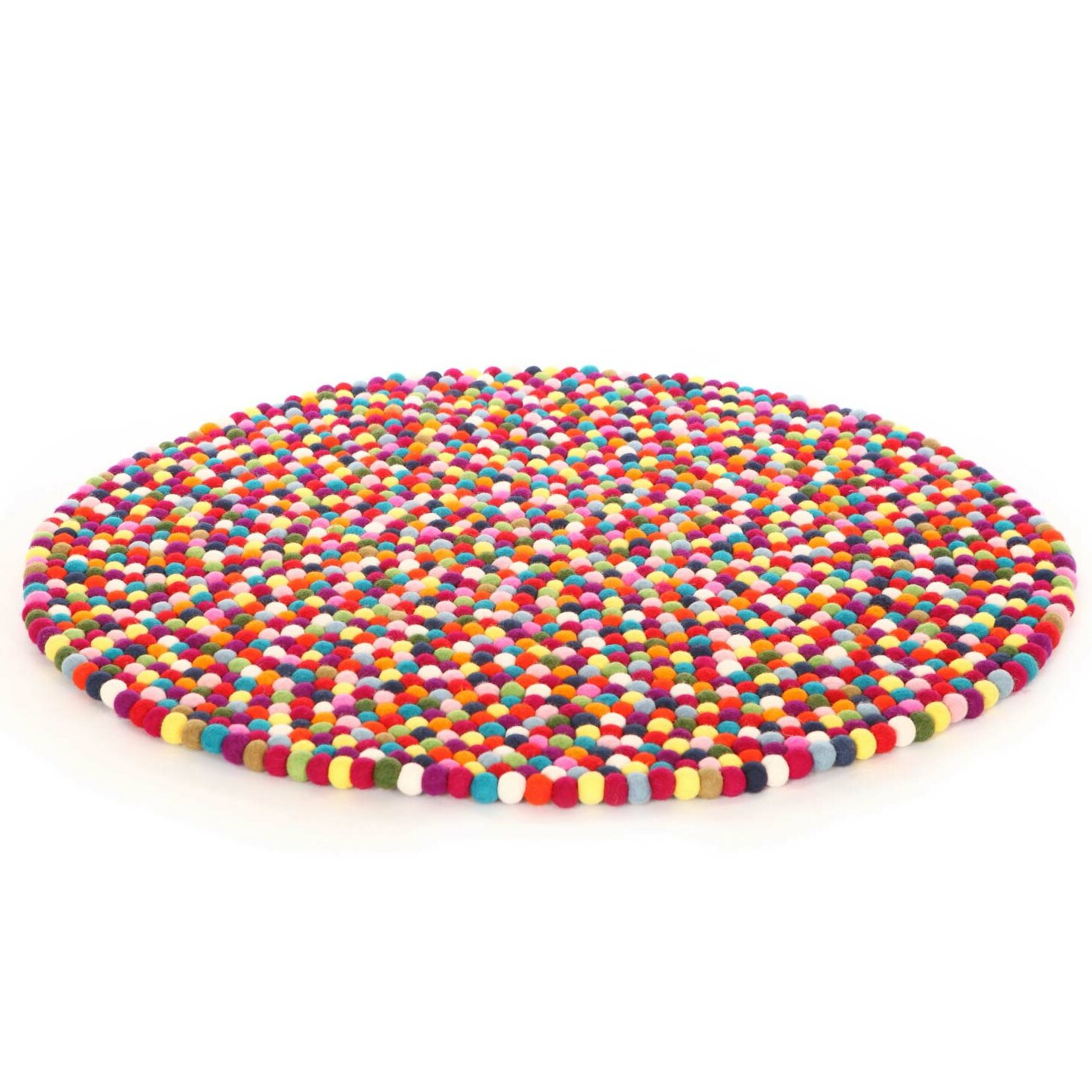 Walk on me happy as larry original felt ball kids round for Round rugs for kids