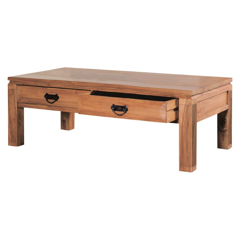 Teak Wood Coffee Table: NES Furniture Athena Solid Teak Wood Coffee Table