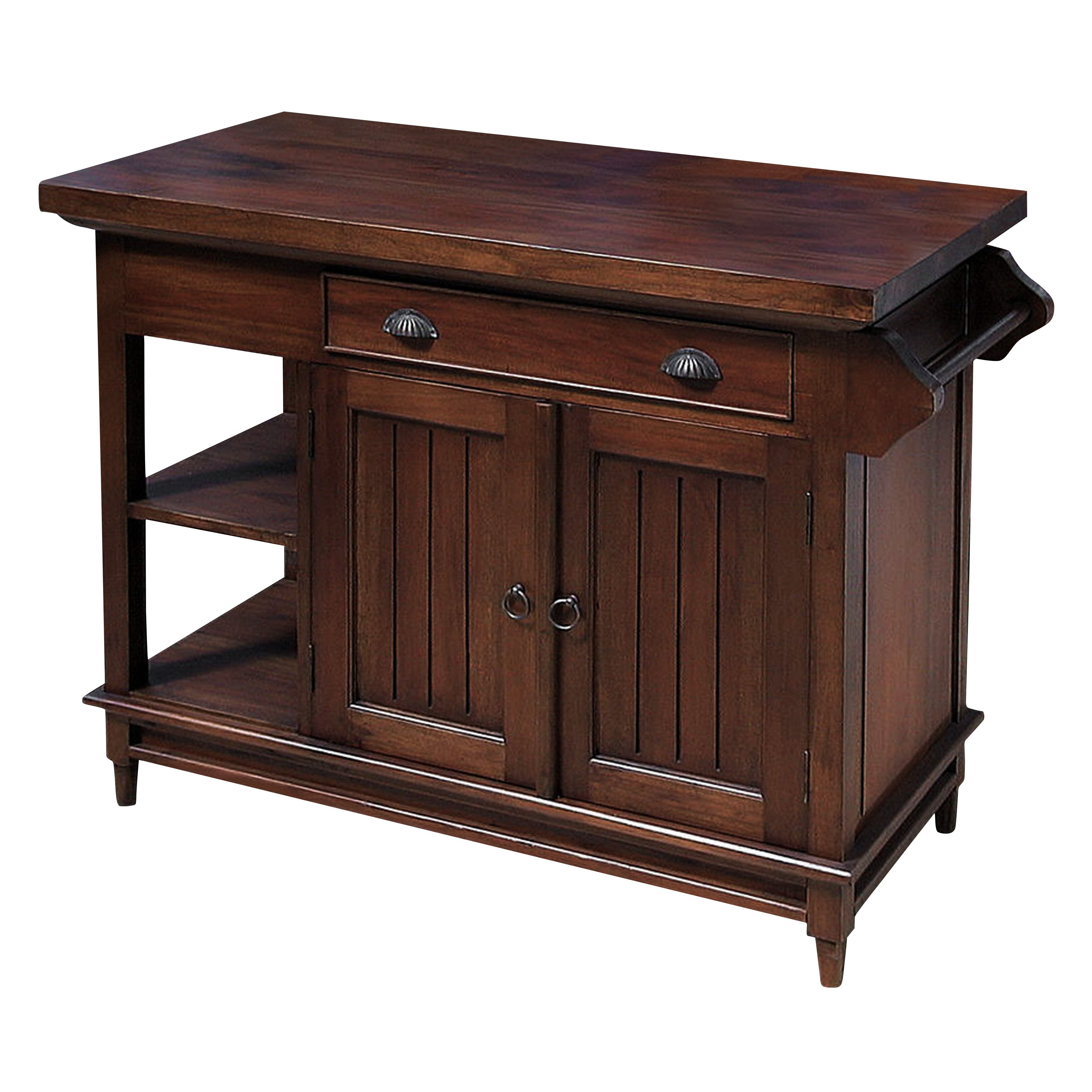 Solid Wood Kitchen: NES Furniture Fransisca Solid Mahogany Wood Kitchen Island