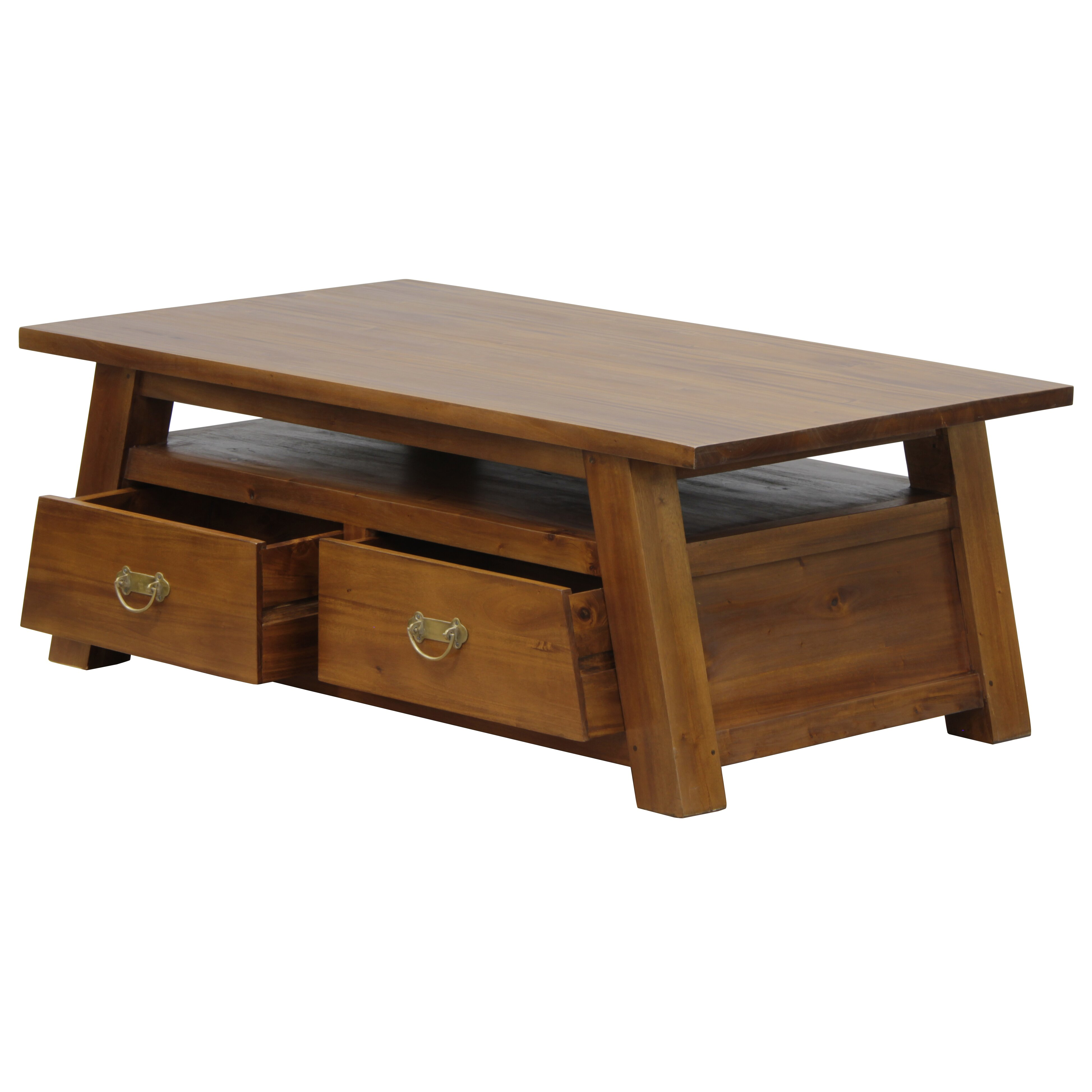 Solid Wood Coffee Table Wayfair: NES Furniture Japanese Fine Handcrafted Solid Mahogany
