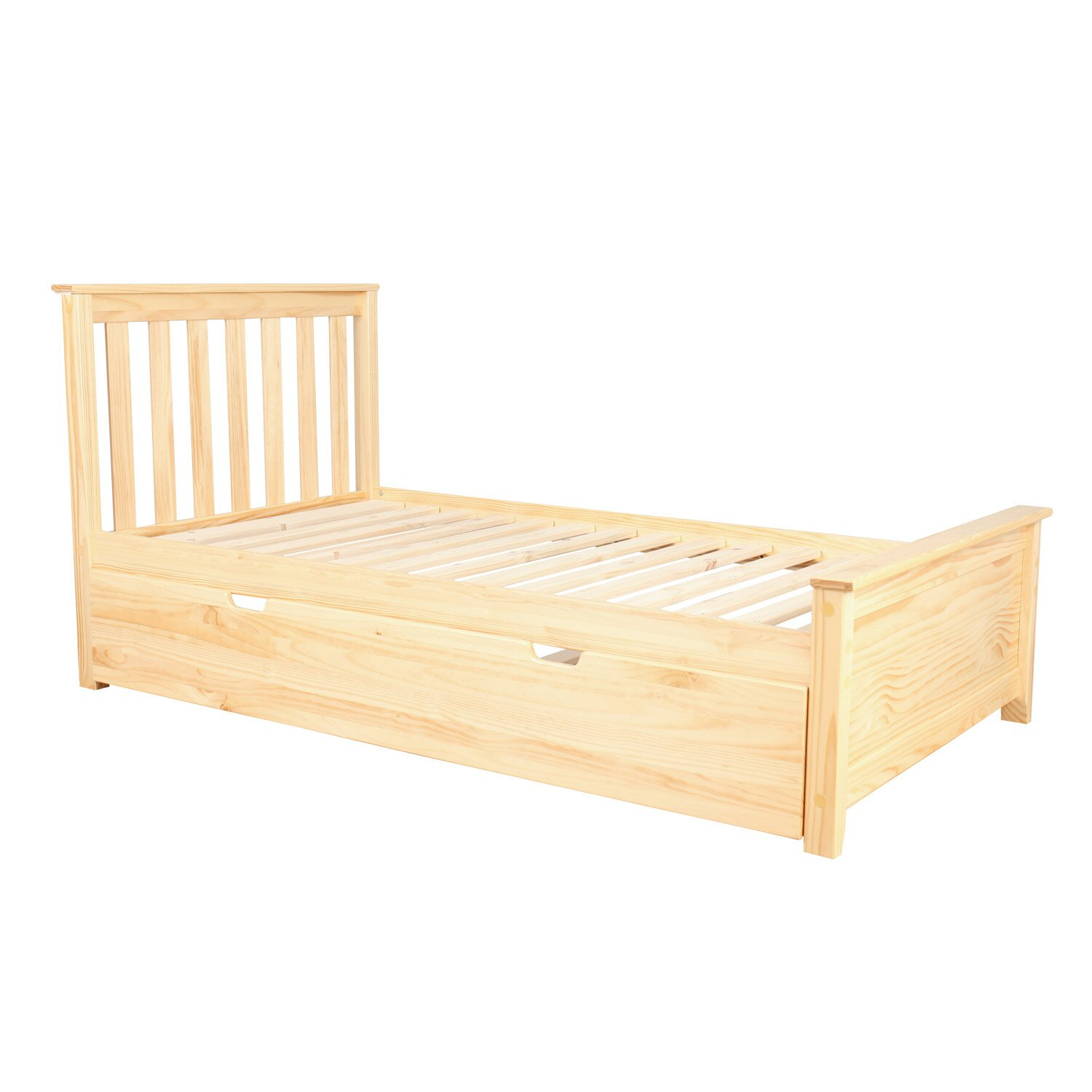 max lily solid wood twin platform bed with trundle frame