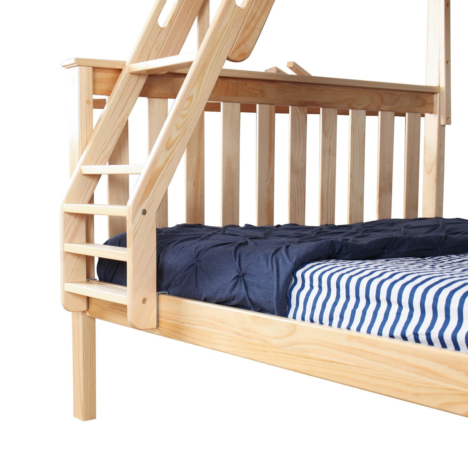max lily solid wood twin over full bunk bed with trundle bed. Black Bedroom Furniture Sets. Home Design Ideas