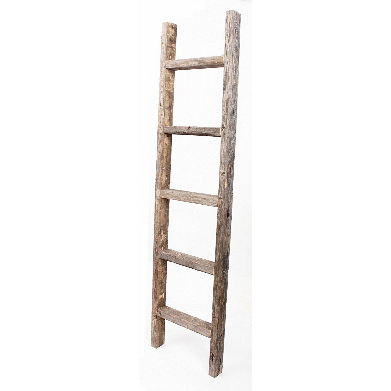Barnwoodusa rustic 16 w x 72 h decorative ladder - Decorative ladder for bathroom ...