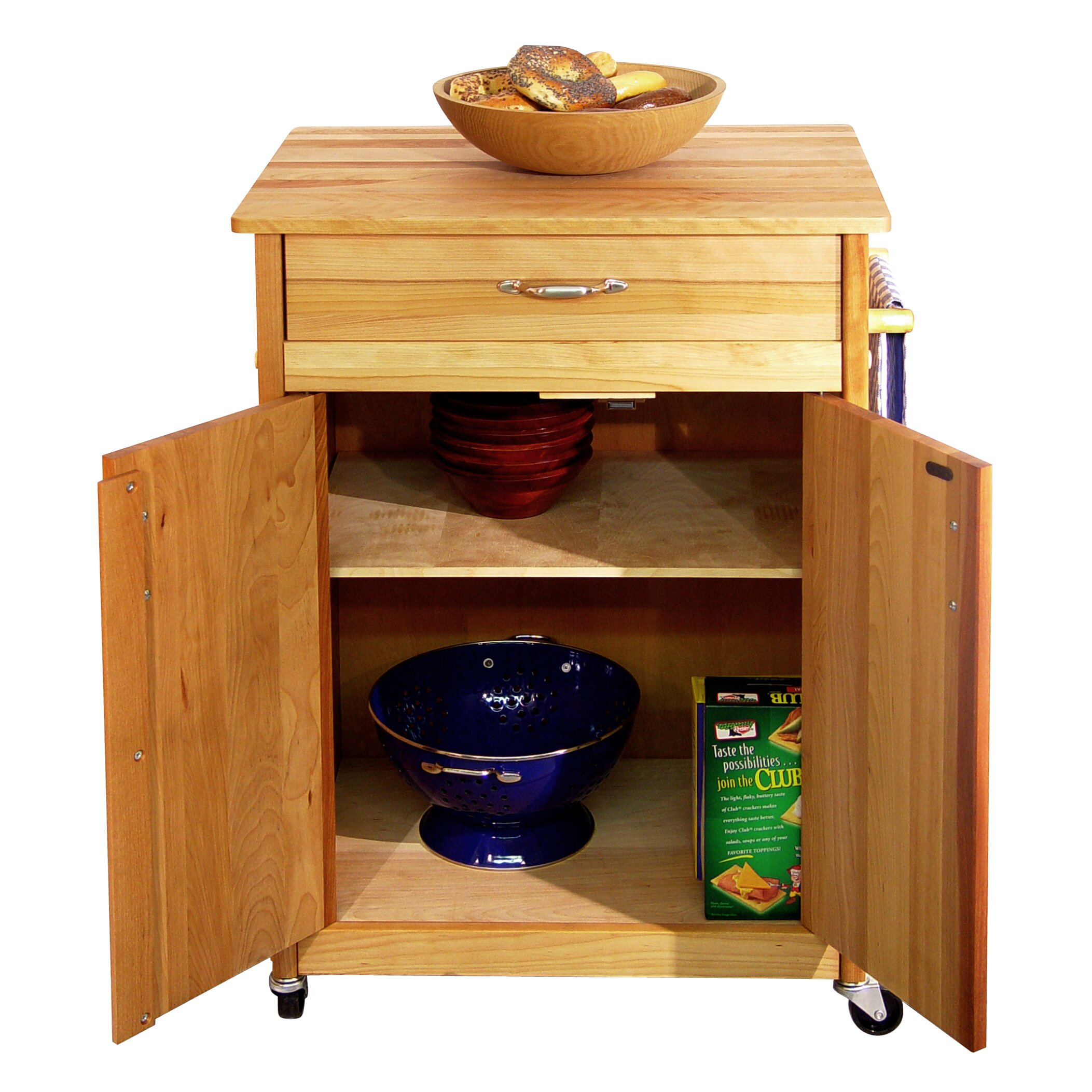 catskill craftsmen kitchen cart  reviews  wayfair, Kitchen design