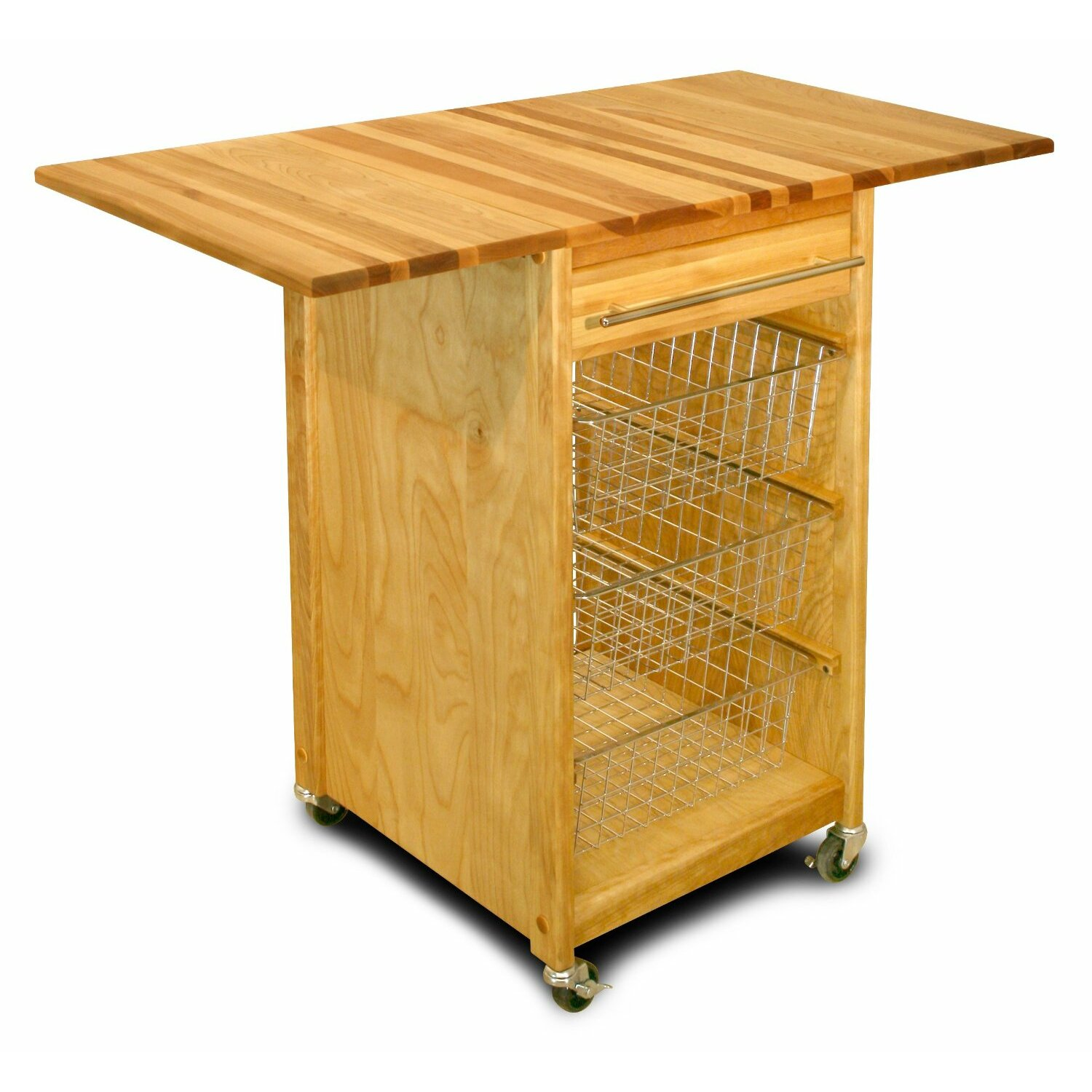 catskill craftsmen kitchen cart with butcher block top  reviews, Kitchen design