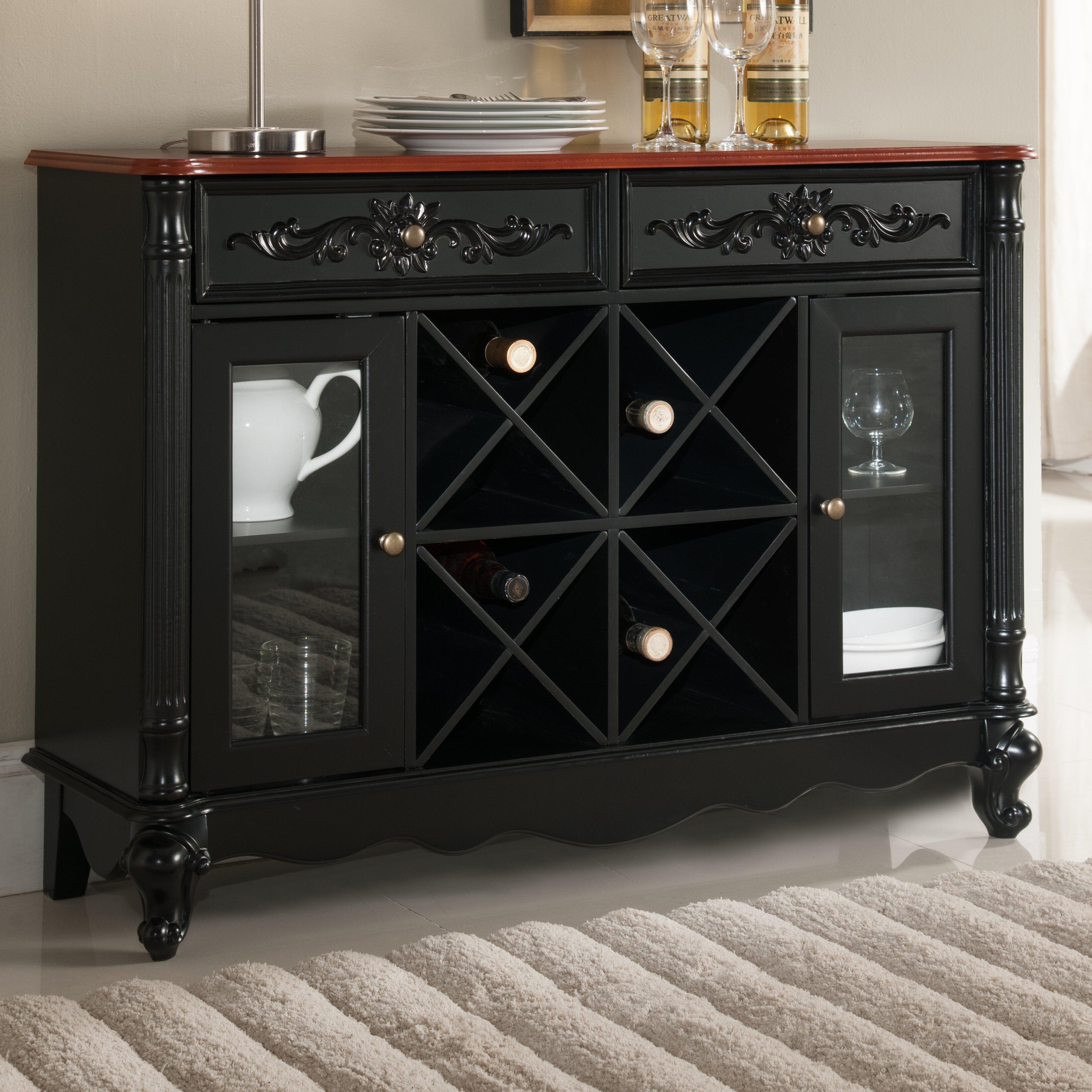 Floor Storage Cabinets Fleur De Lis Living Christensen Wood Storage 16 Bottle Floor Wine