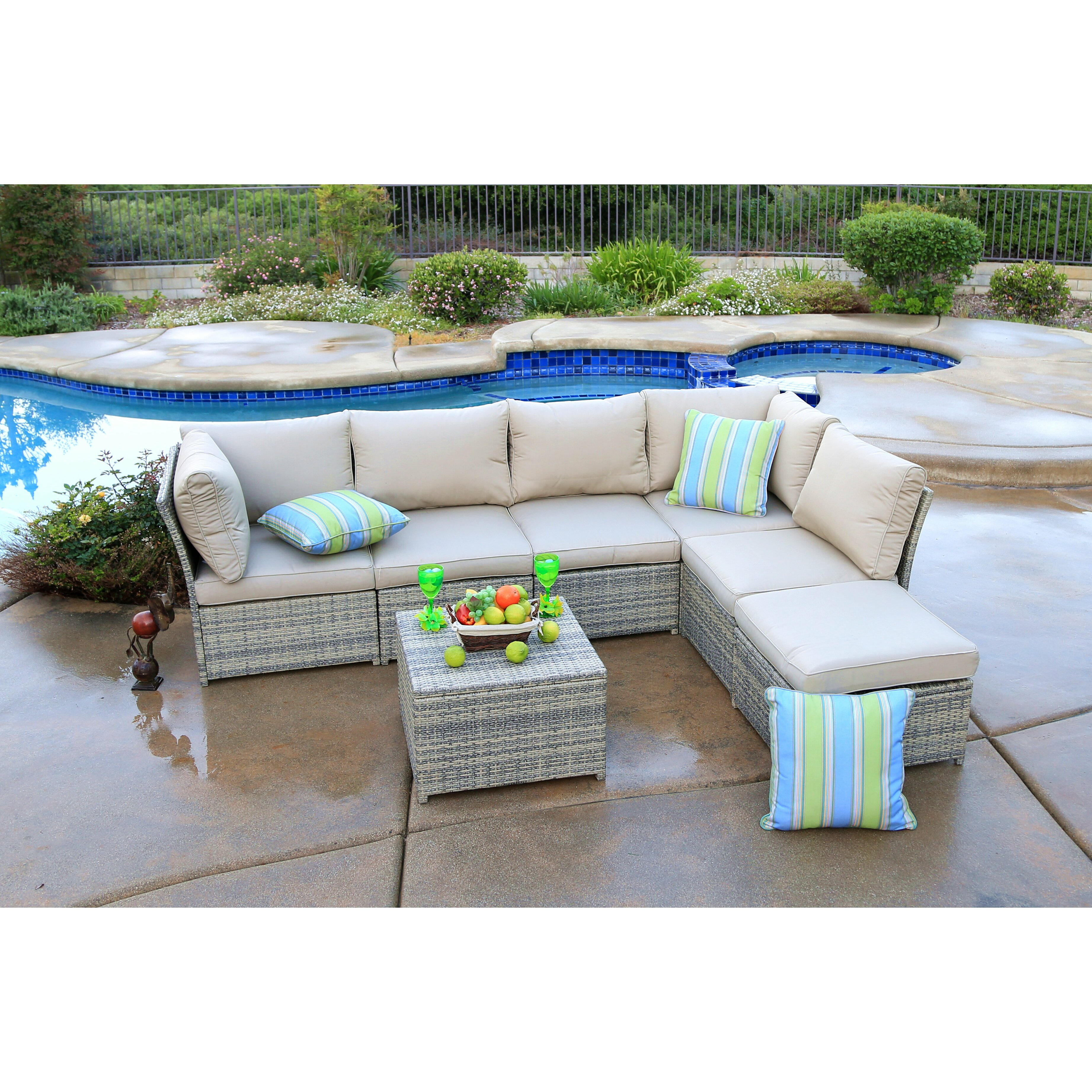 Alcott Hill Burress 7 Piece Sectional Seating Group With