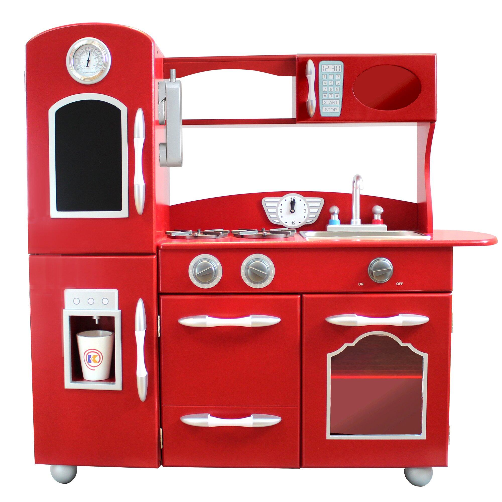 Teamson Kids Wooden Play Kitchen Set & Reviews
