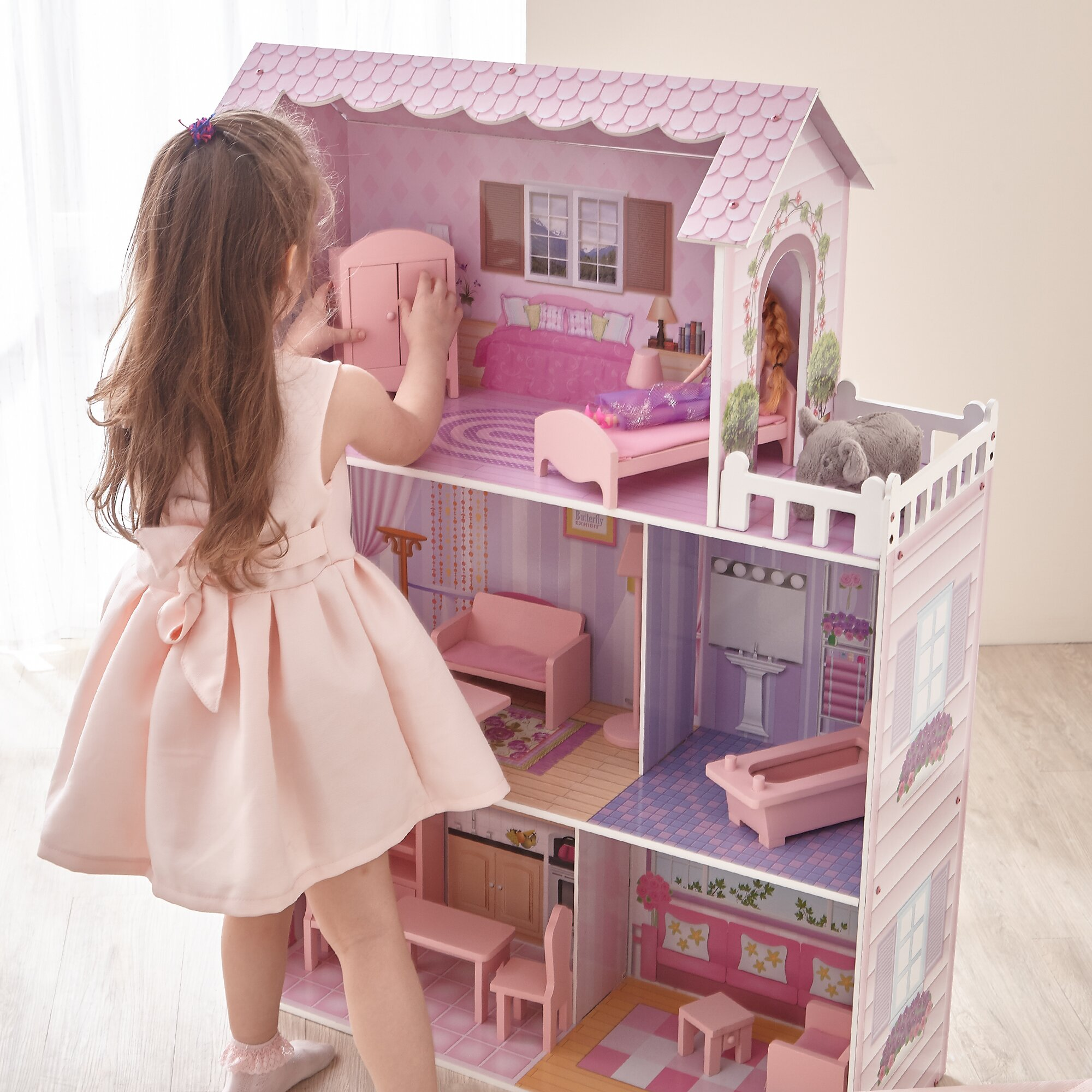 Teamson Kids Fancy Mansion Doll House Amp Reviews Wayfair