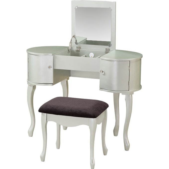 Linon Jackson Vanity Set With Mirror Reviews: Linon Paloma Vanity Set With Mirror & Reviews