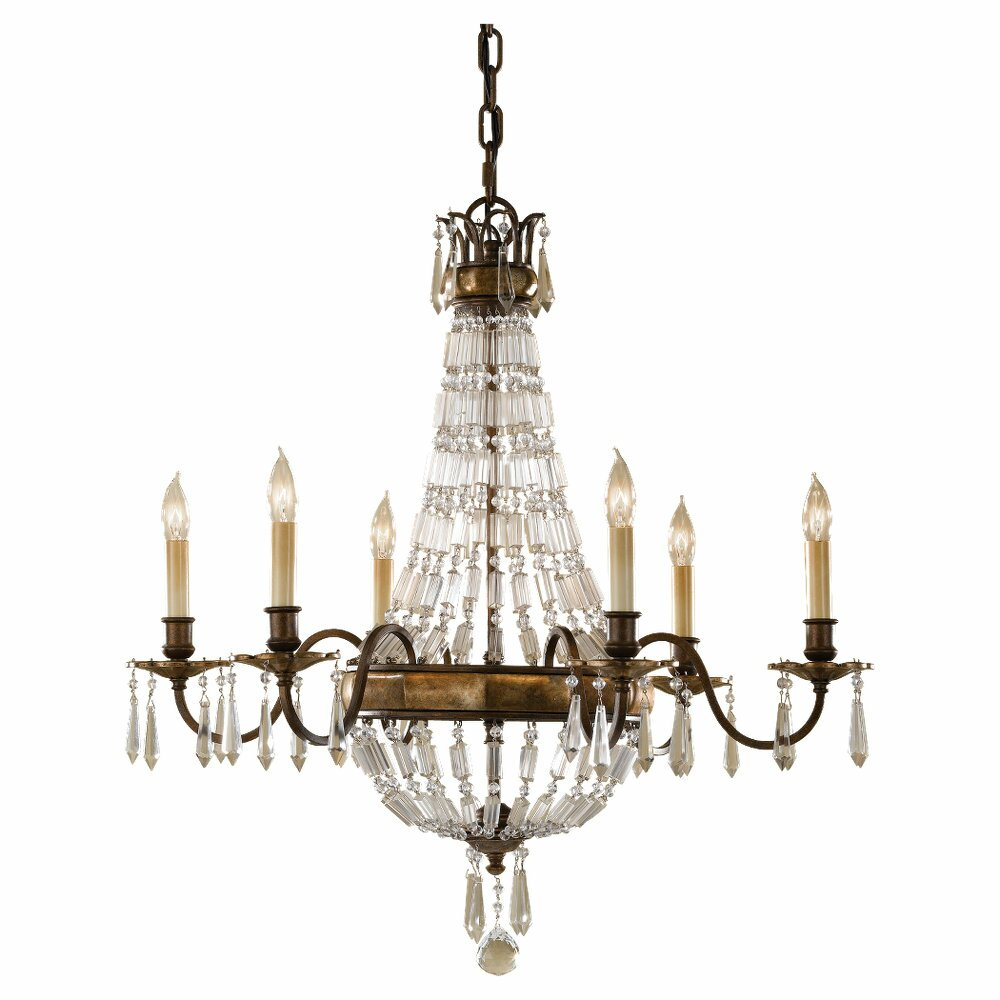 Feiss Bellini 6Light Crystal Chandelier Reviews – Murray Feiss Chandeliers