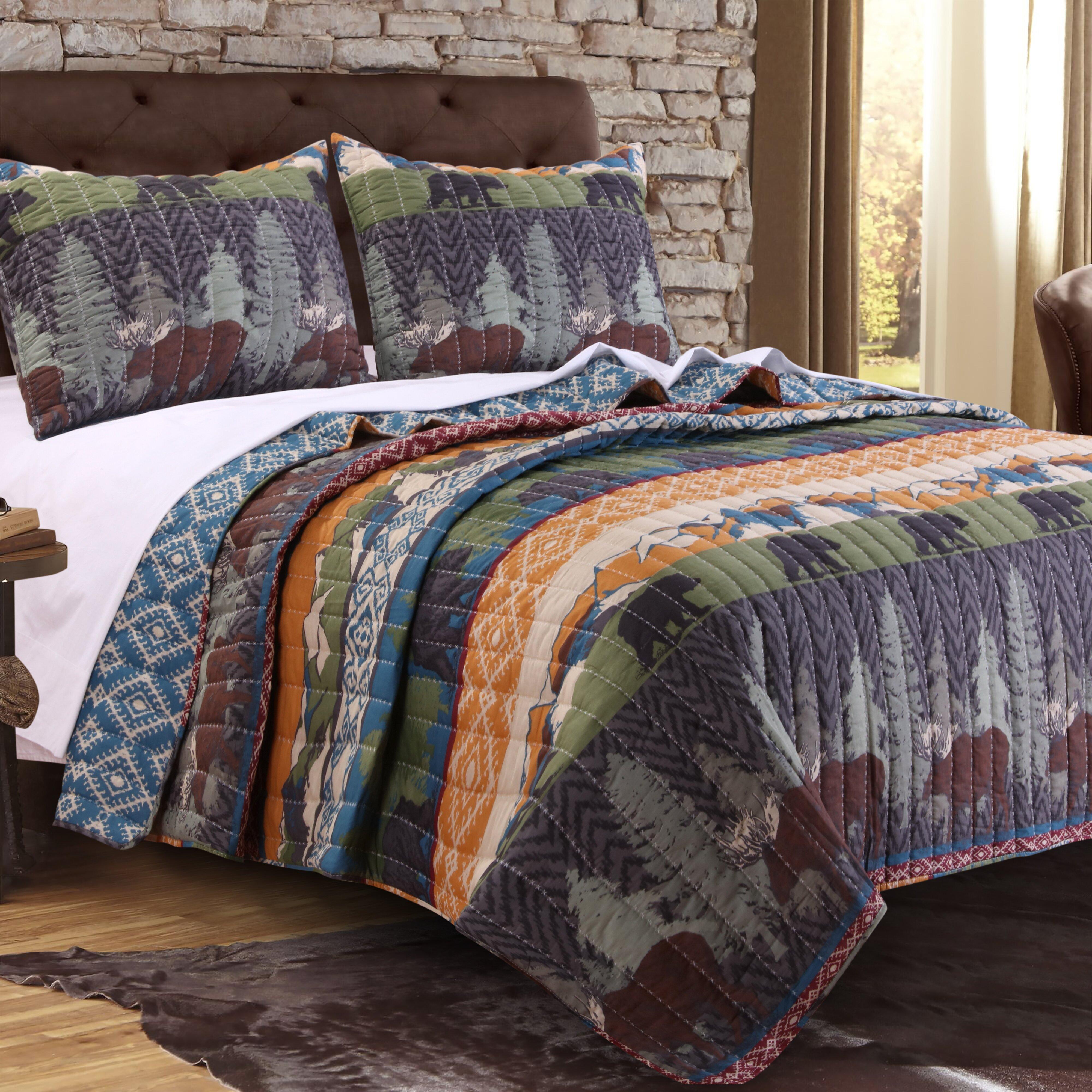 Greenland Home Fashions Black Bear Lodge Quilt Set