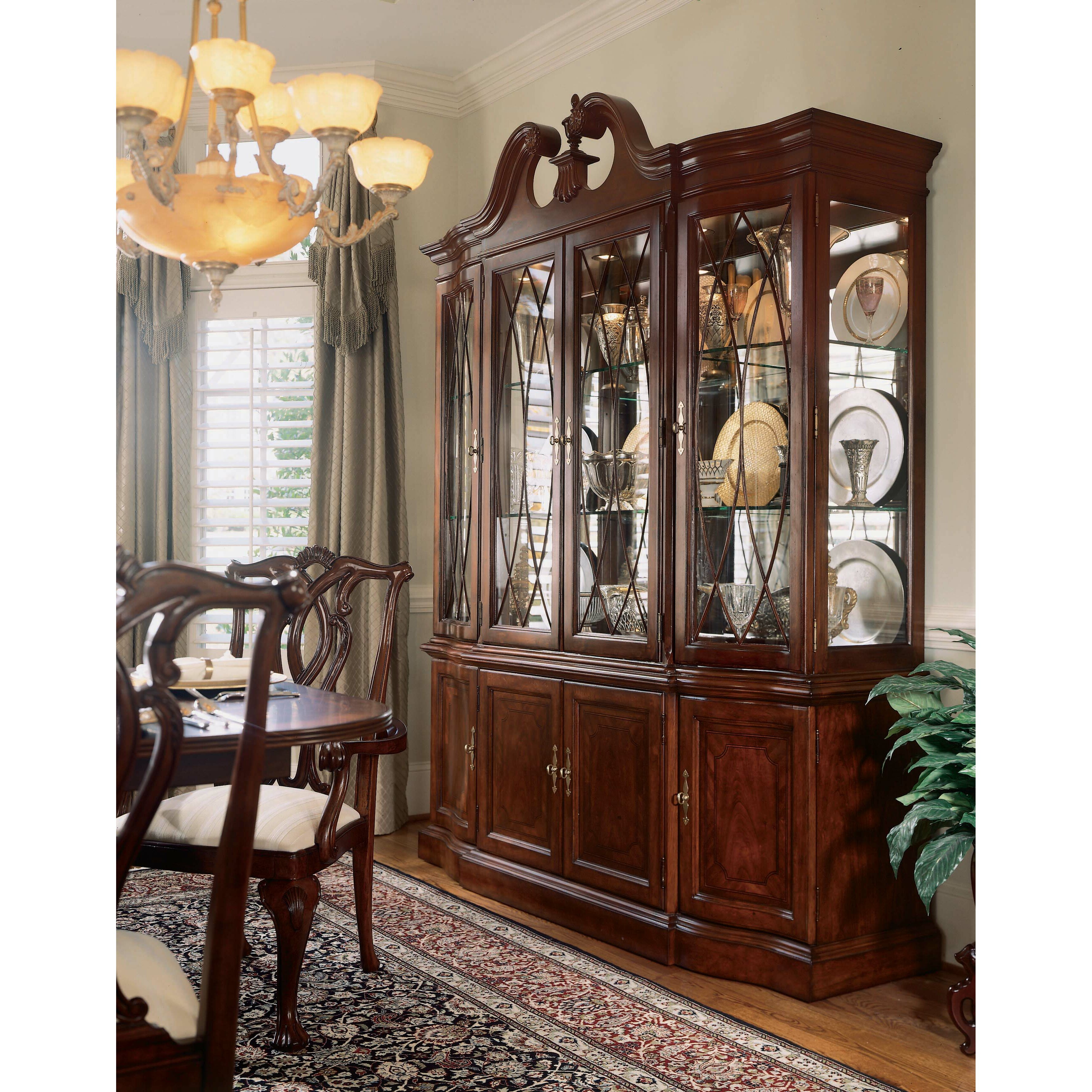 China Cabinet With Hutch American Drew Cherry Grove China Cabinet Reviews Wayfair