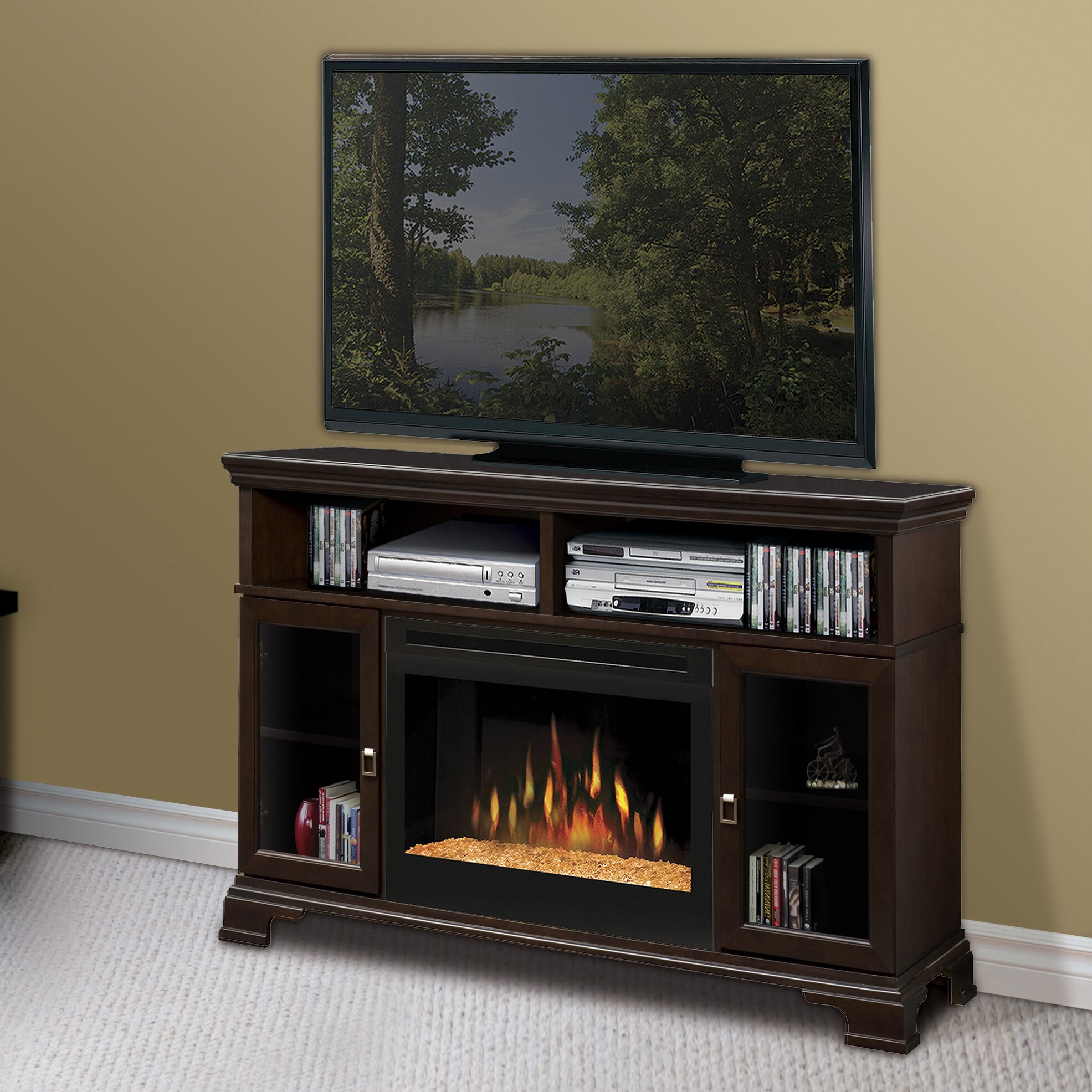 Dimplex Brookings Tv Stand With Electric Fireplace Reviews Wayfair ...