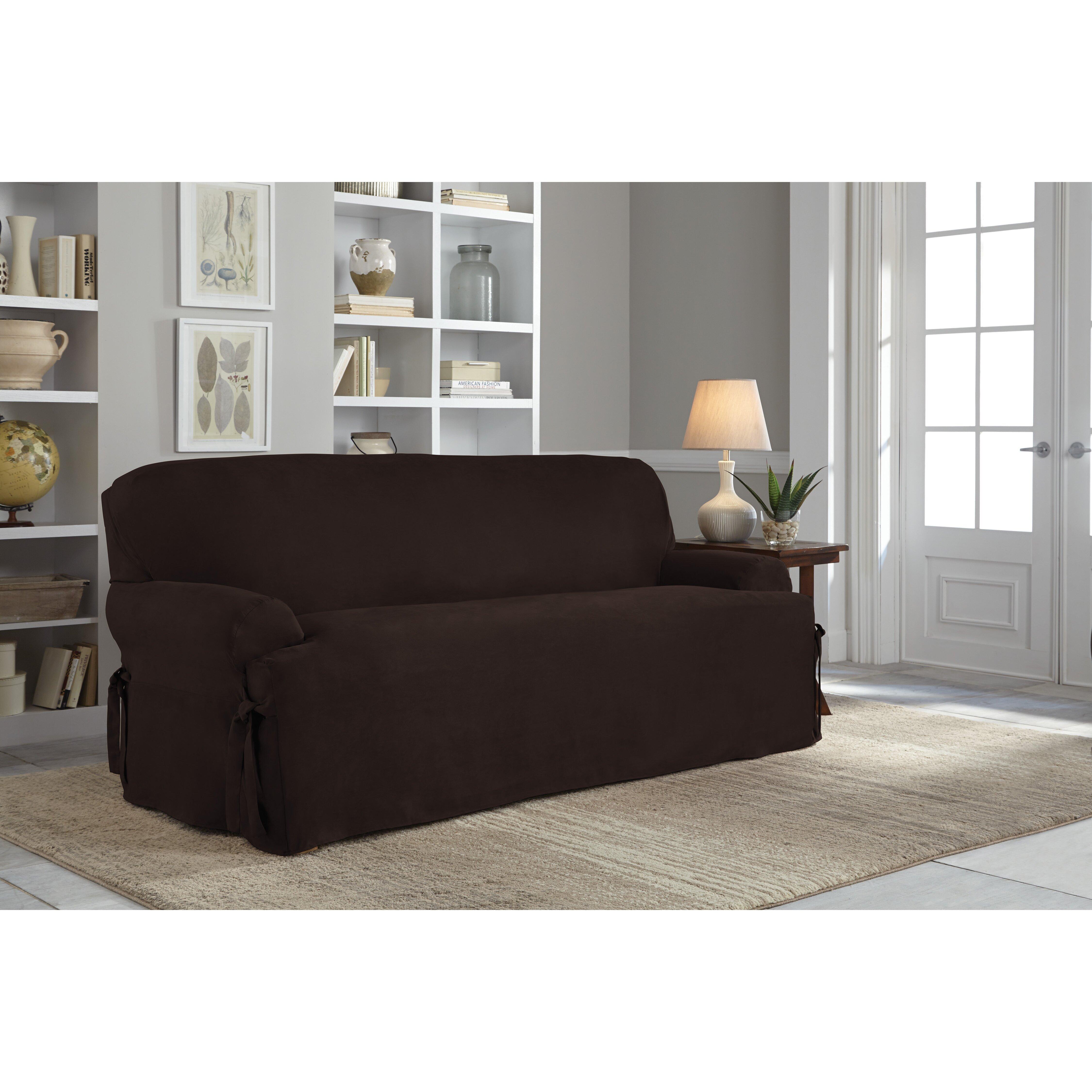 Serta Sofa T Cushion Slipcover Amp Reviews Wayfair