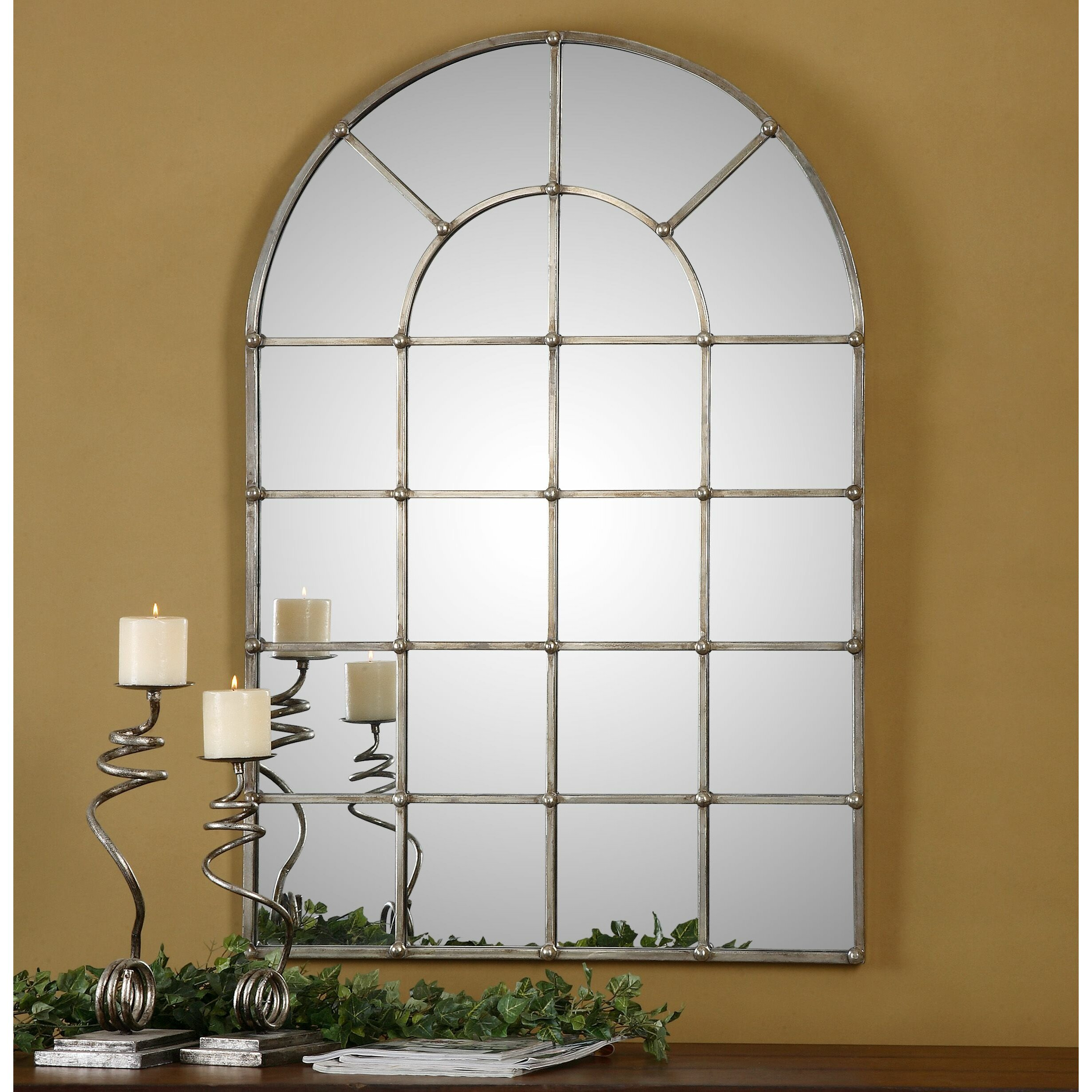 Uttermost Barwell Arch Window Wall Mirror & Reviews